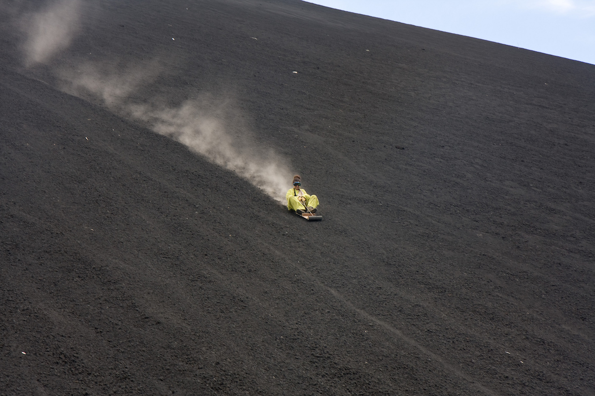 Volcano Boarding Unusual things to do in Nicaragua