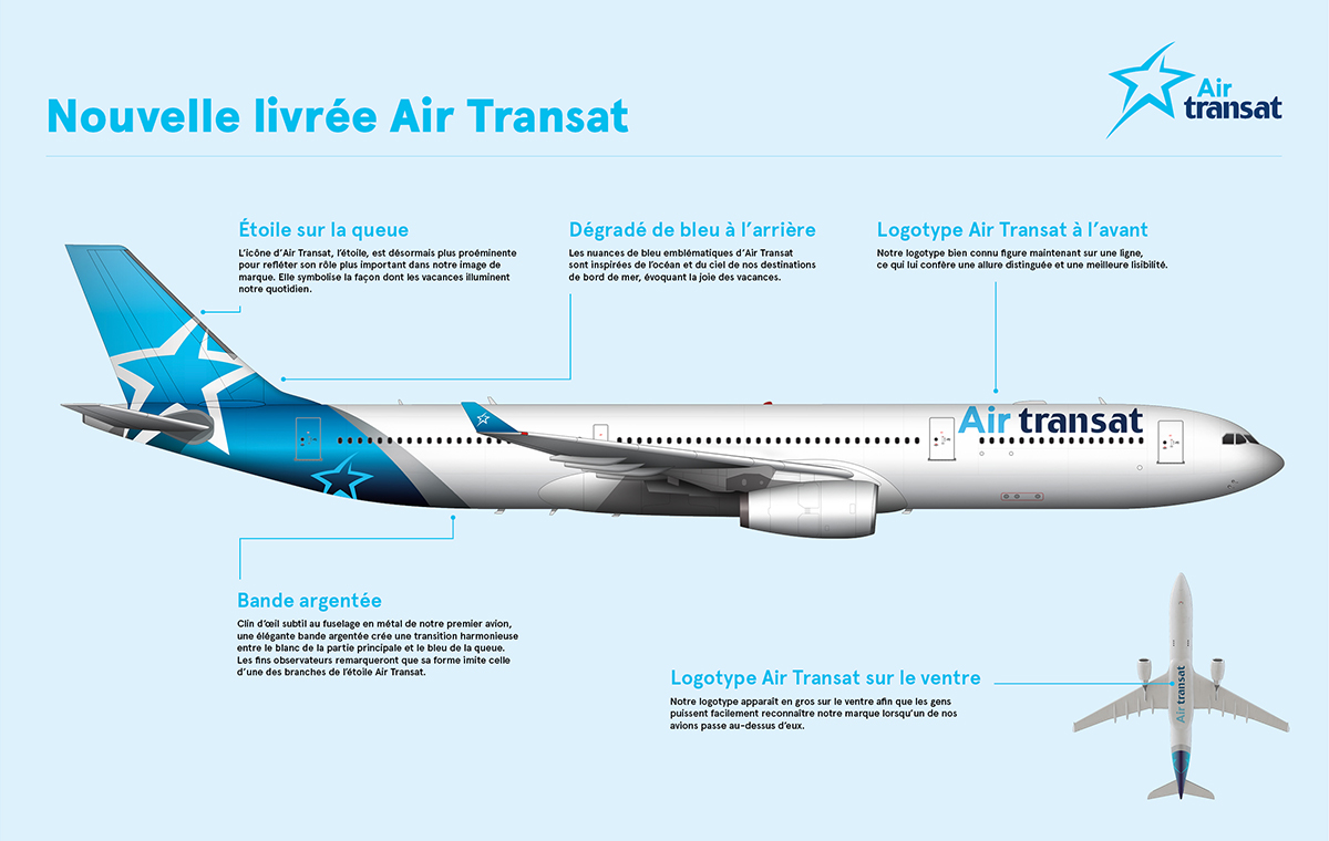 Explications de la livrée 2017 d'Air Transat