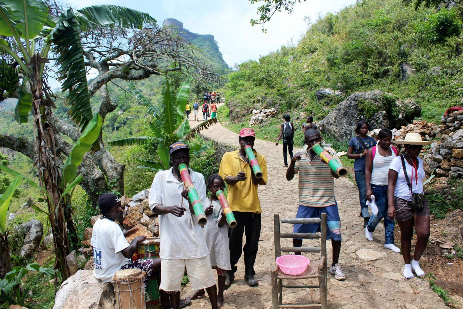 Live music in north milot, Haïti