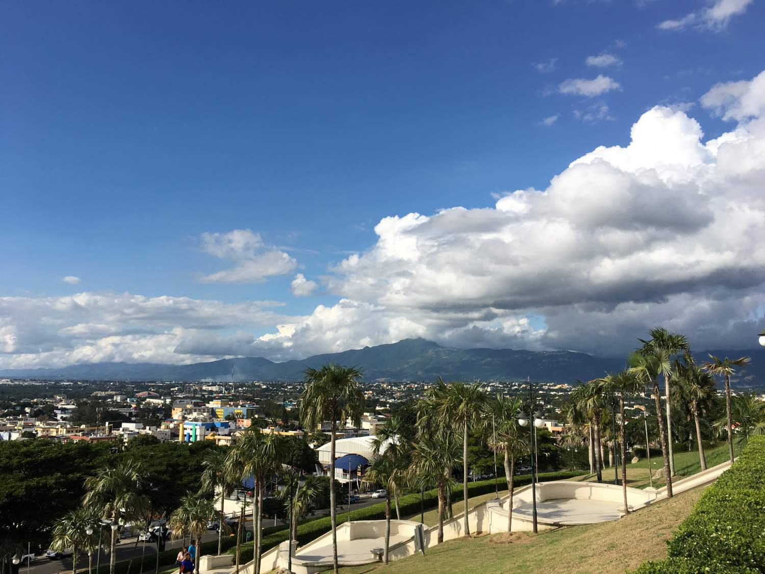 View of Santiago for the top of heroes monument, Dominican Republic