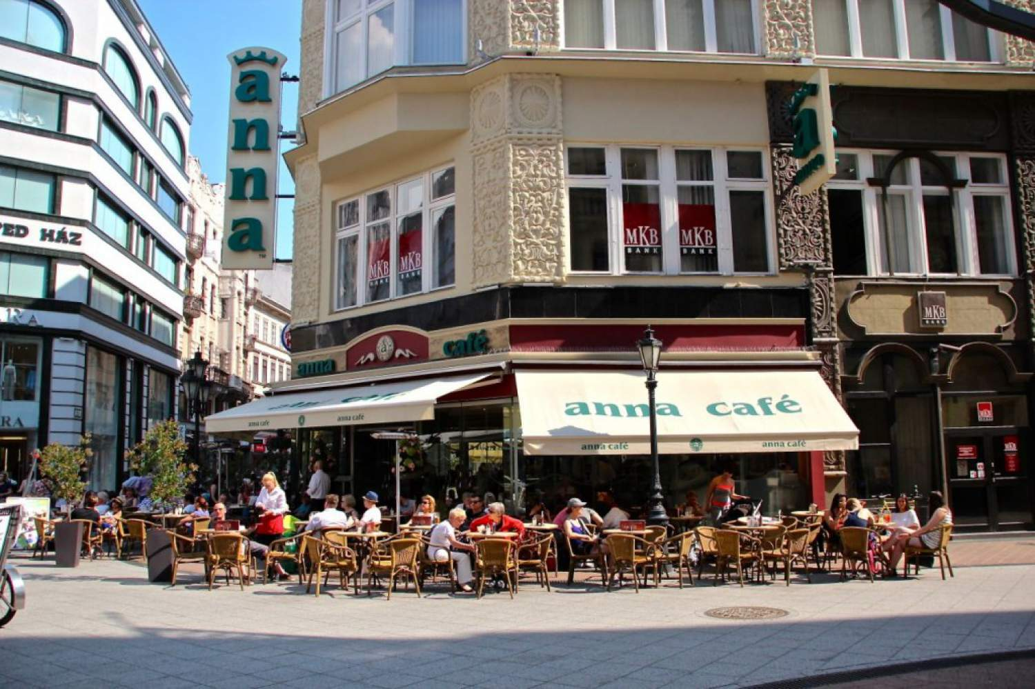 Anna Café's terrasse brings you close to the street