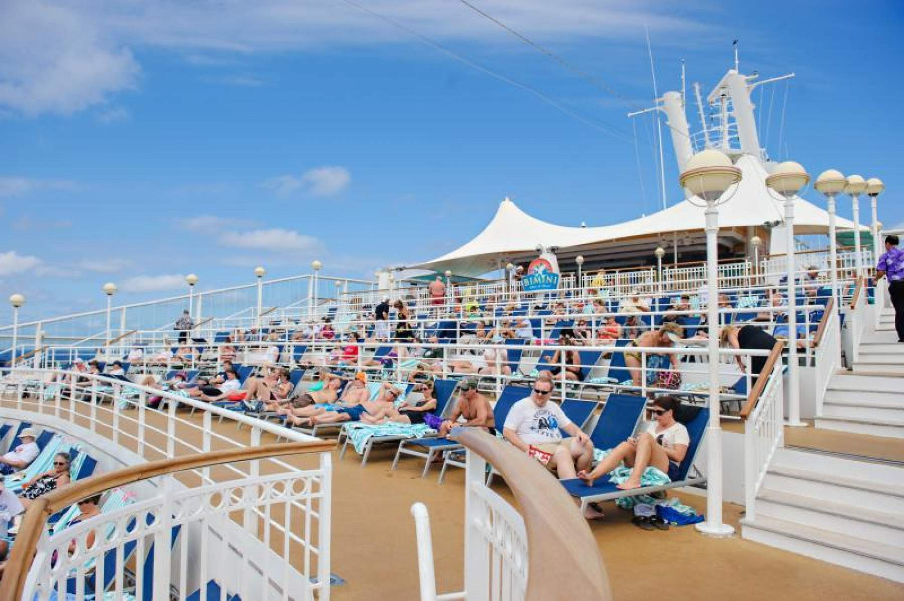 Deck on a cruise ship, family vacation