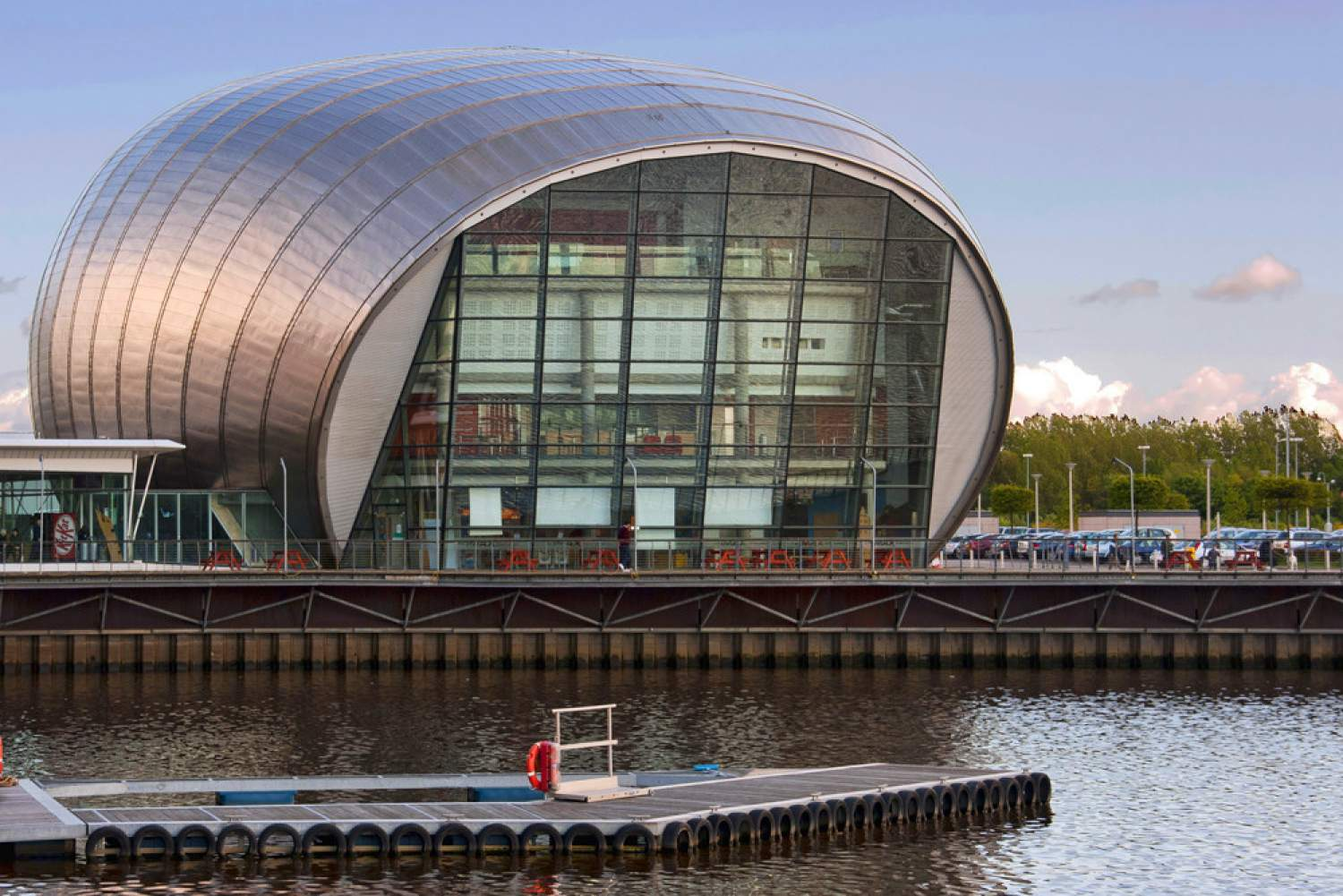 Glasgow's science center by the Clyde river