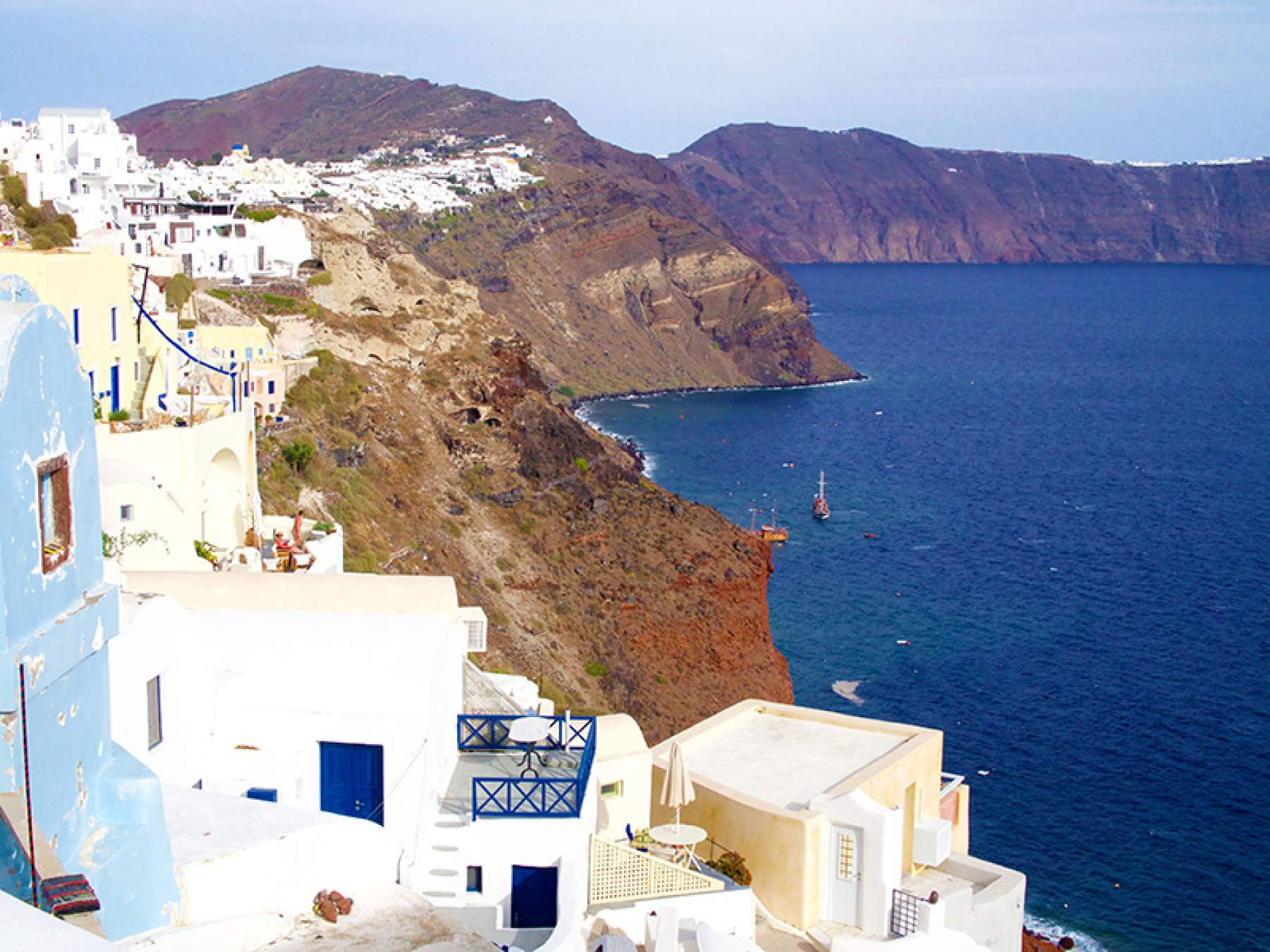 Santorini in the Cyclades, Greece