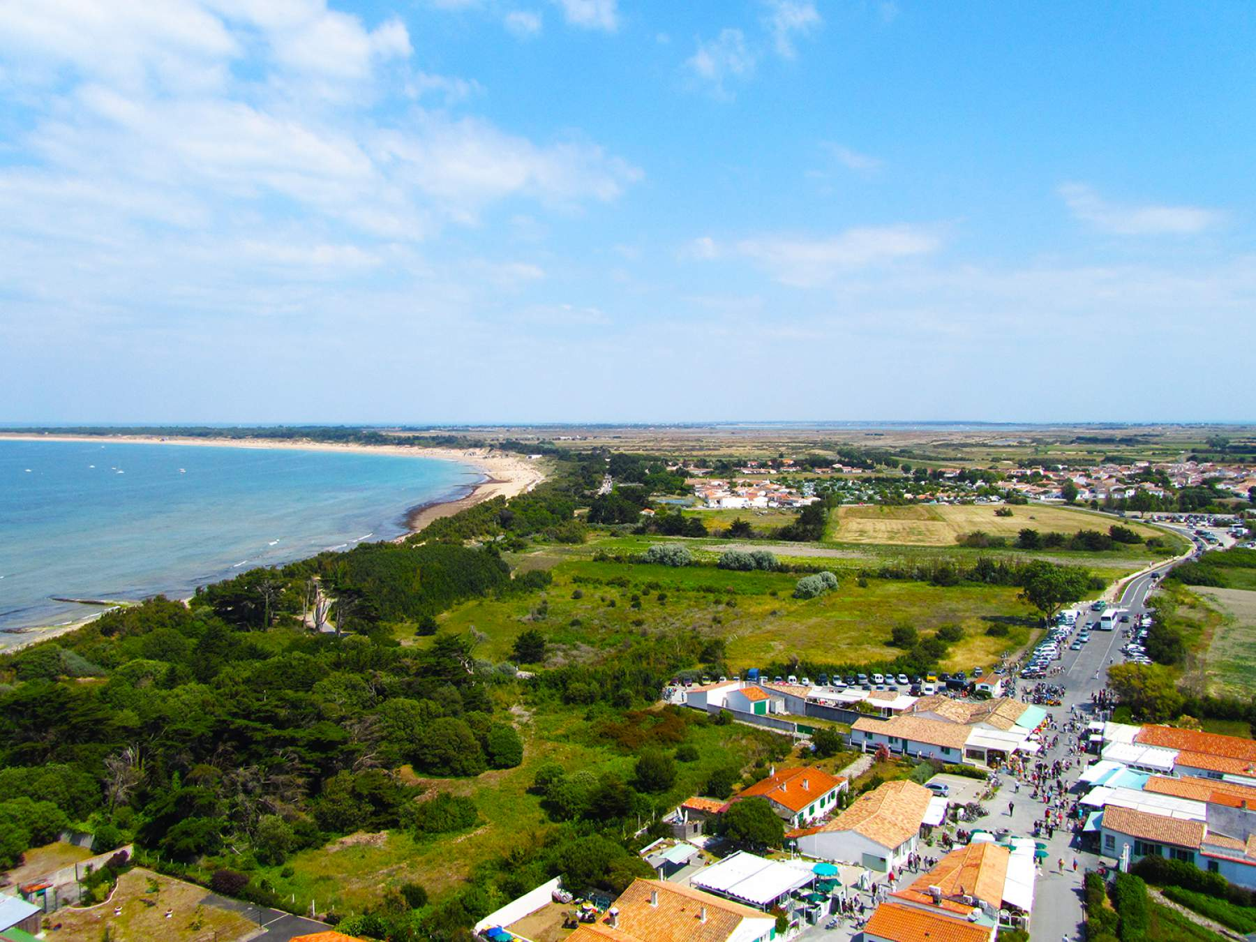 Panoramic vue of the Island of Re, France