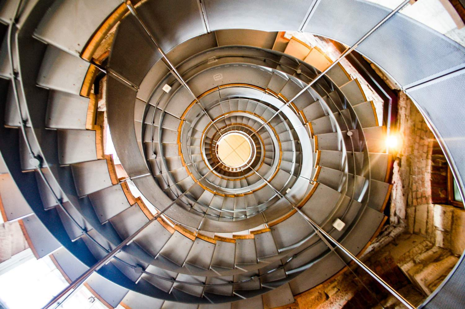 Lighthouse's staircase in Glasgow, Scotland