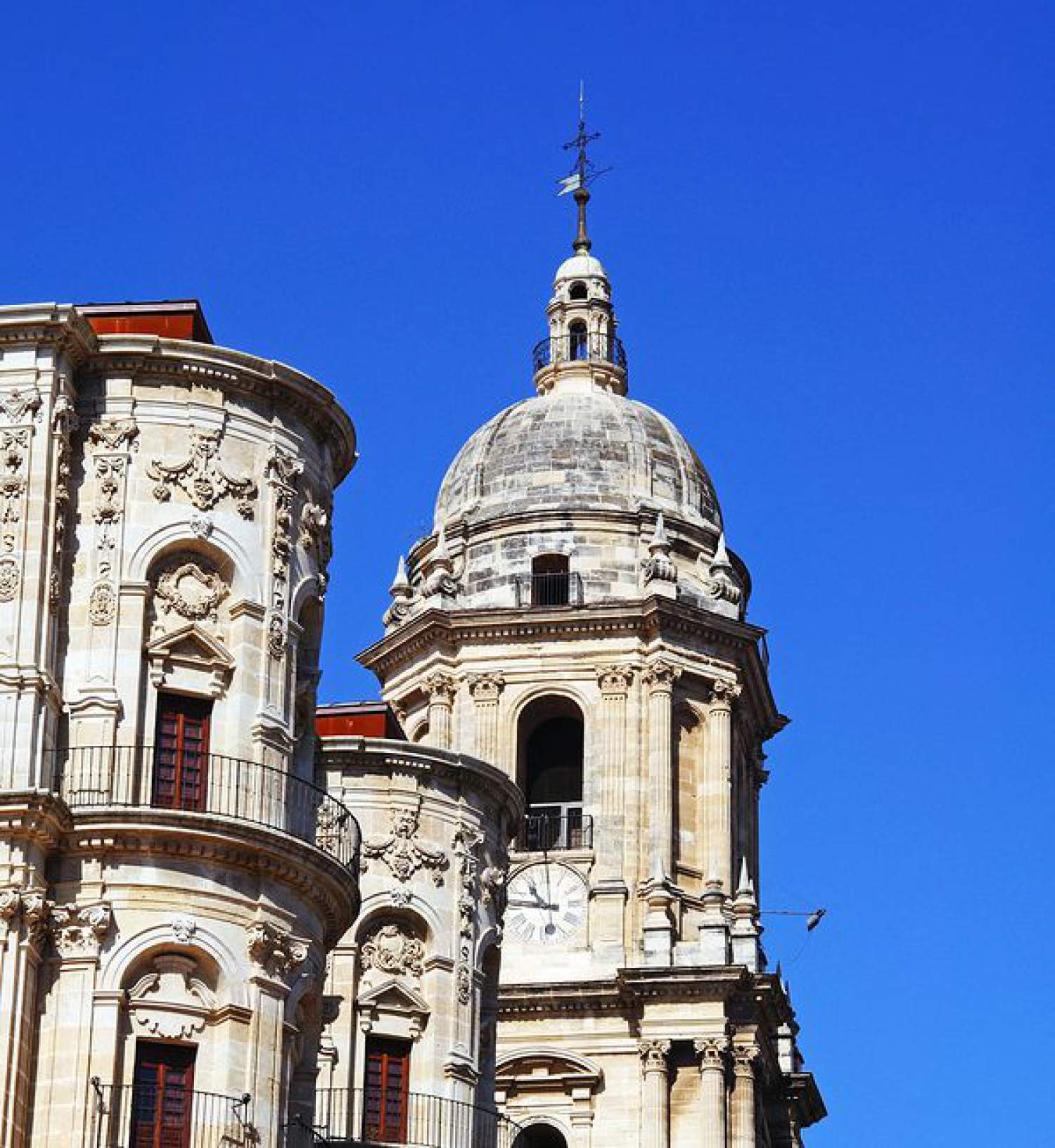 Malaga and its old architecture, Spain