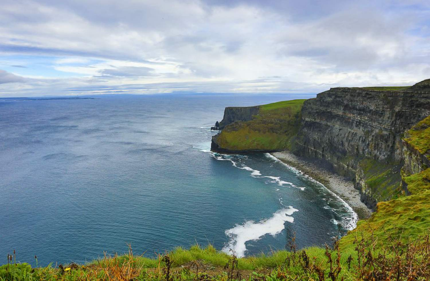 Moher cliff and its isolated beaches
