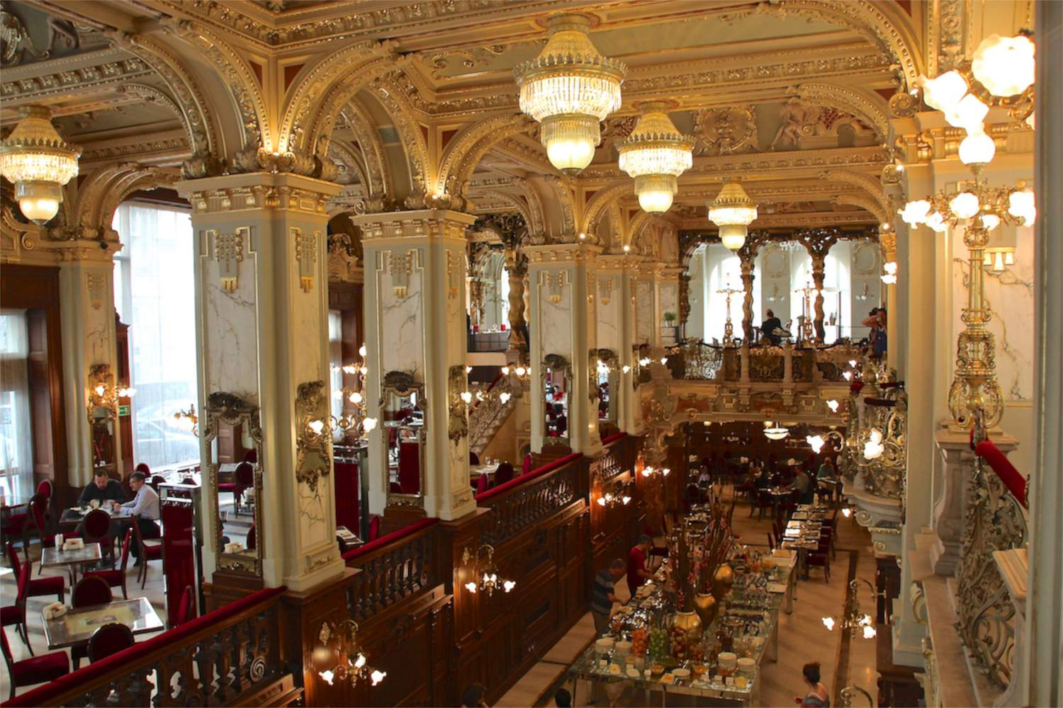 the majestic new york cafe from the 2nd floor budapest experiencetransat memories of. Black Bedroom Furniture Sets. Home Design Ideas
