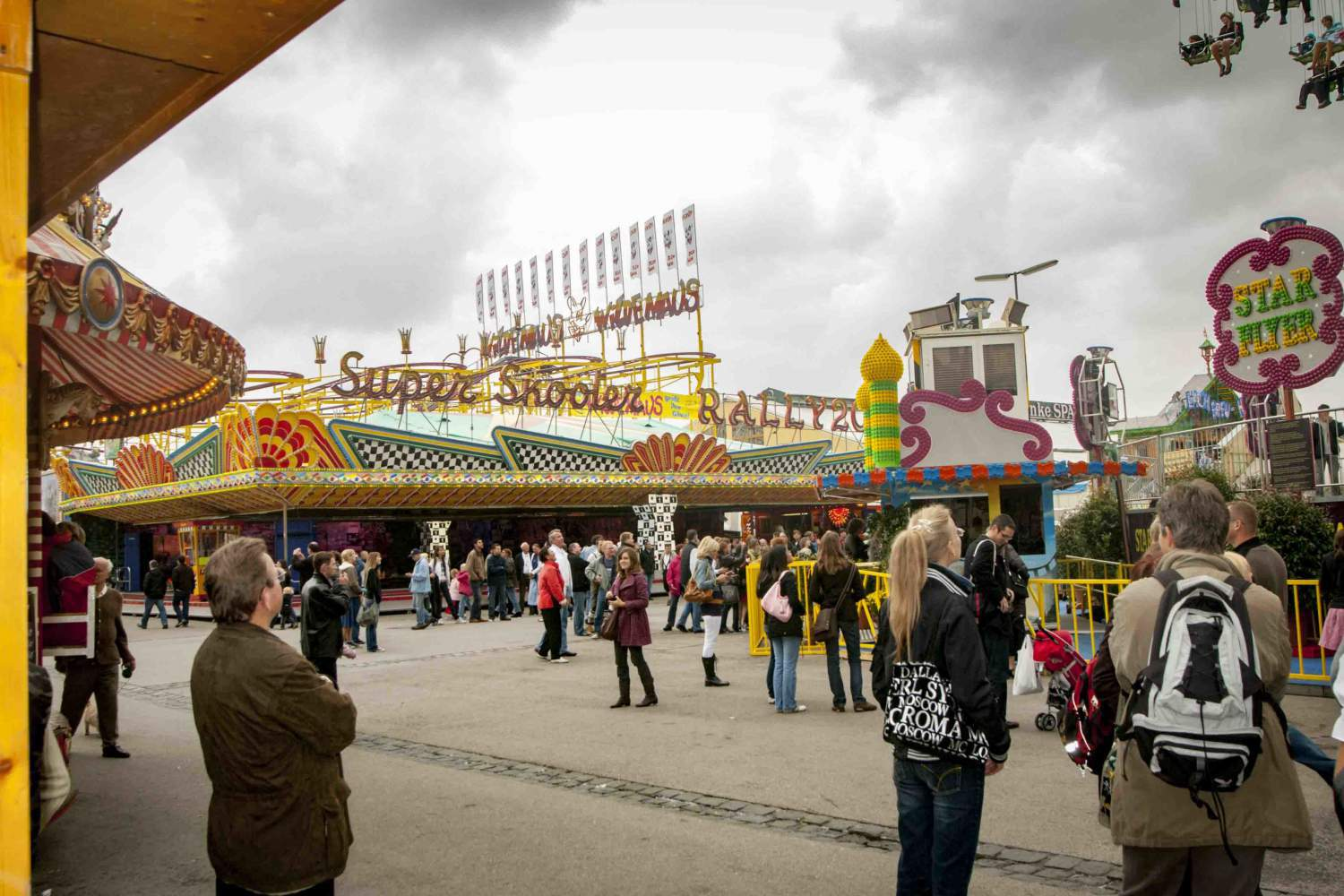 Munich's attraction park during the Oktoberfest