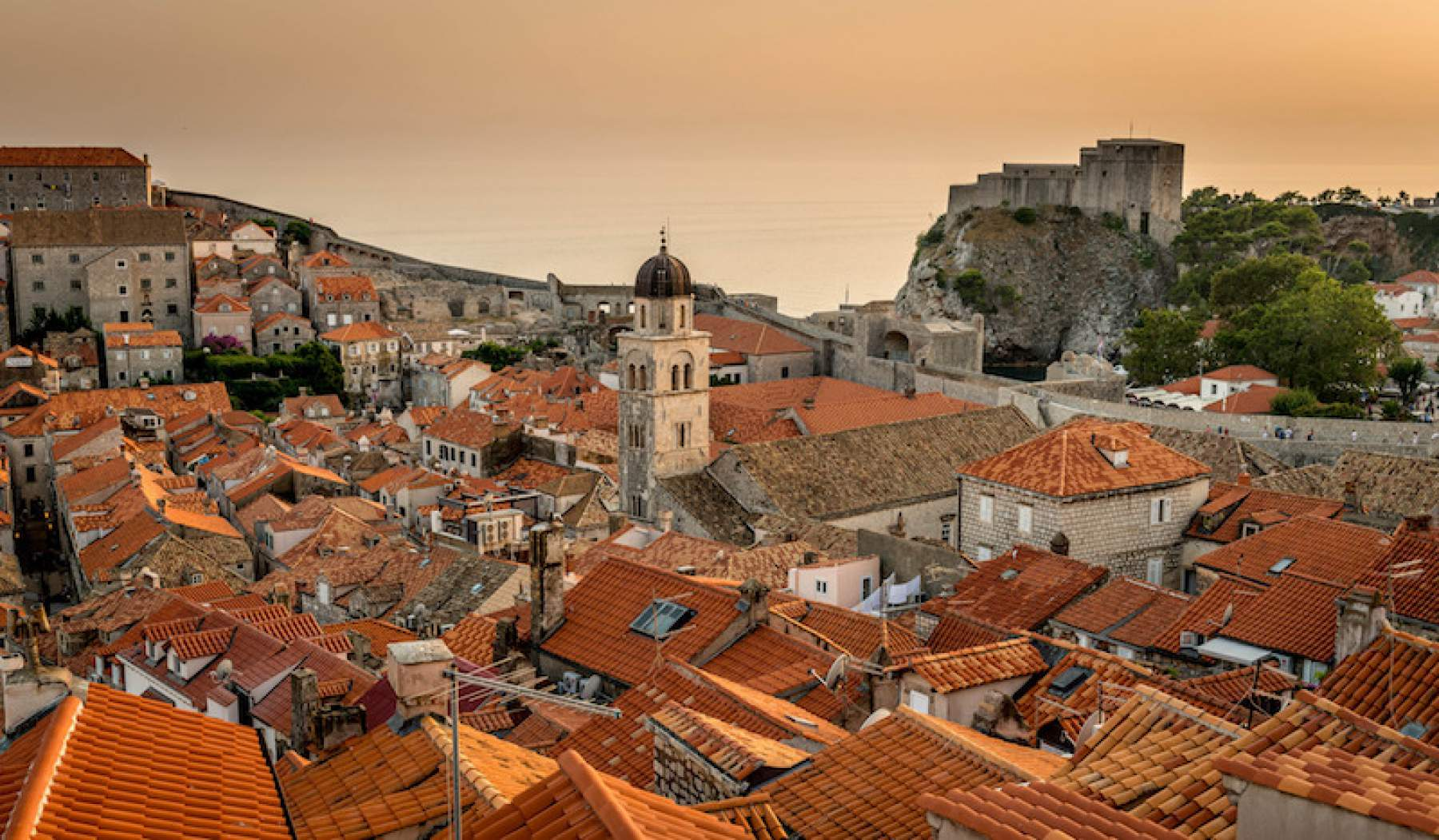 The roofs of Dubrovnik, Croatia