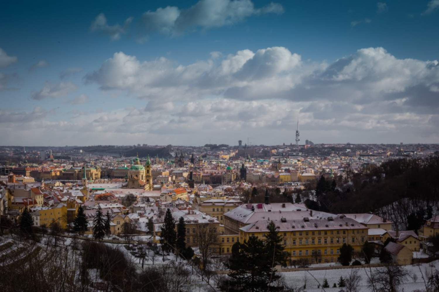 View from the Petrin hill in Prague
