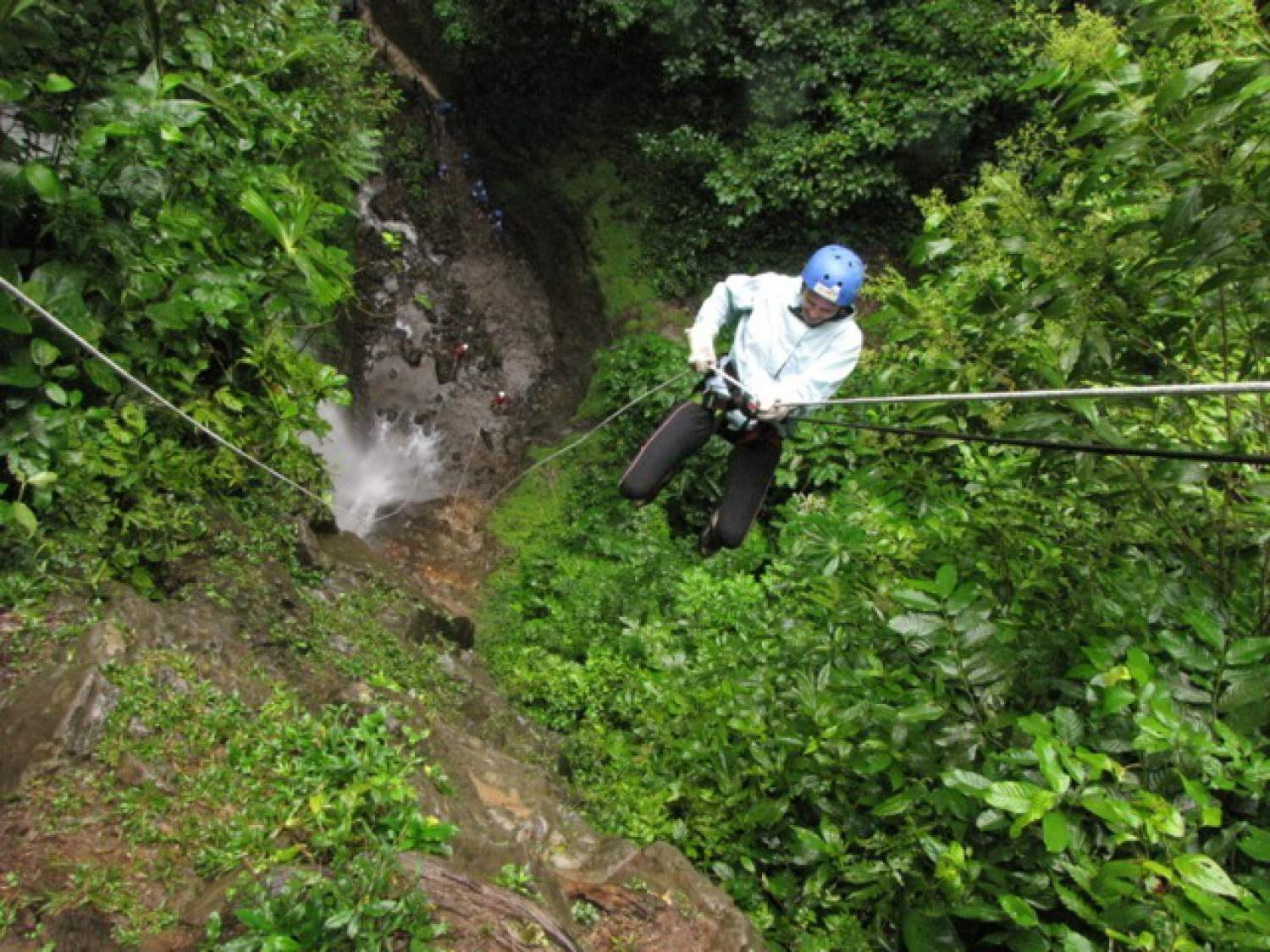 Abseiling in the jungle
