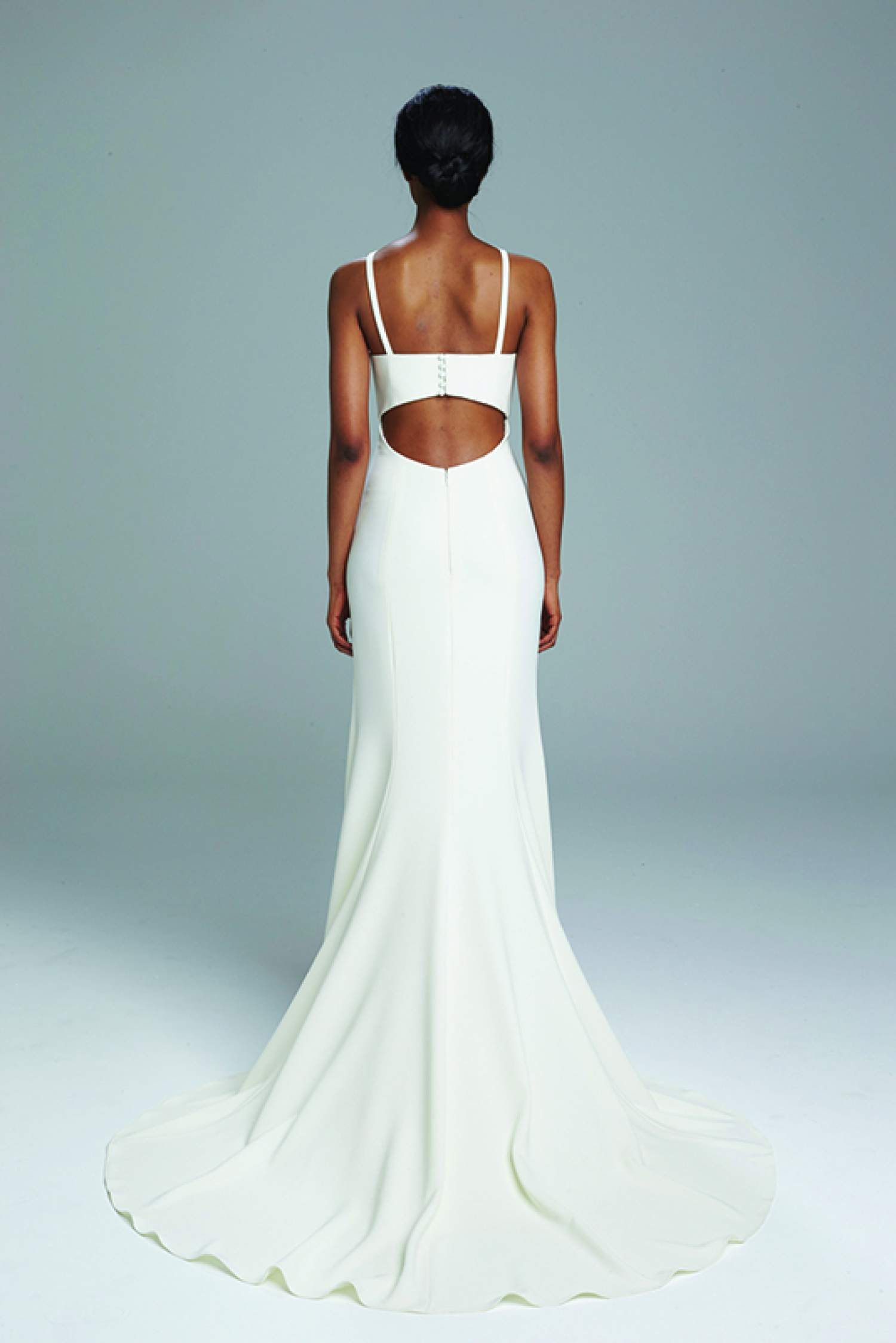 Amsale jack back wedding dress