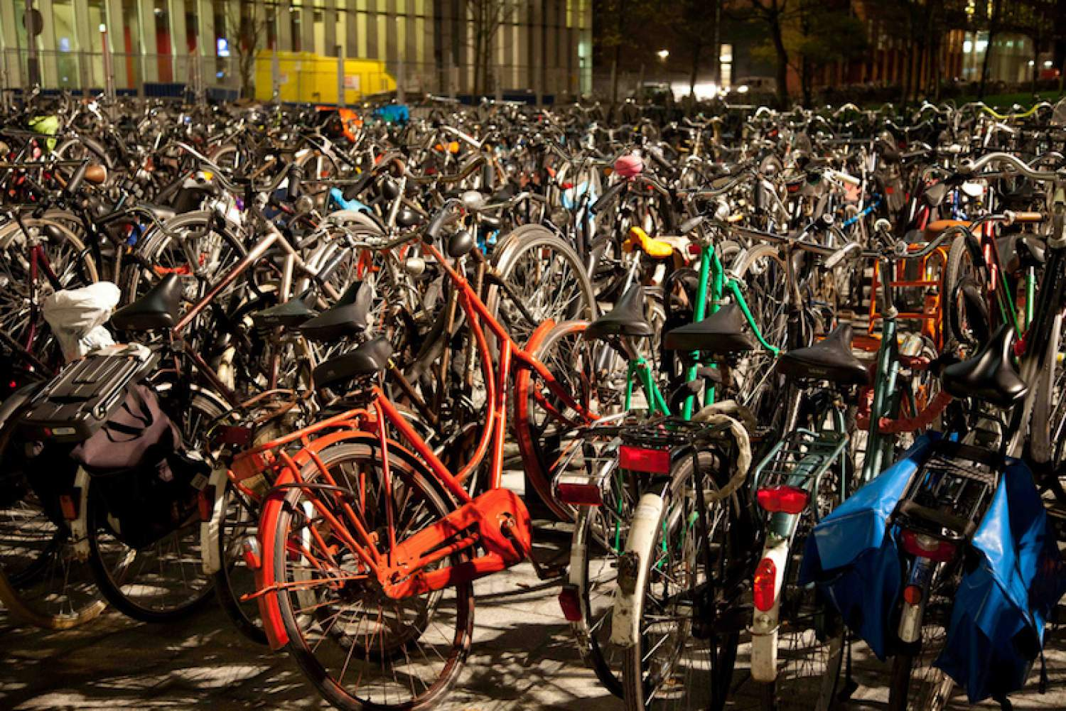 Bicycle parking lot in Amsterdam