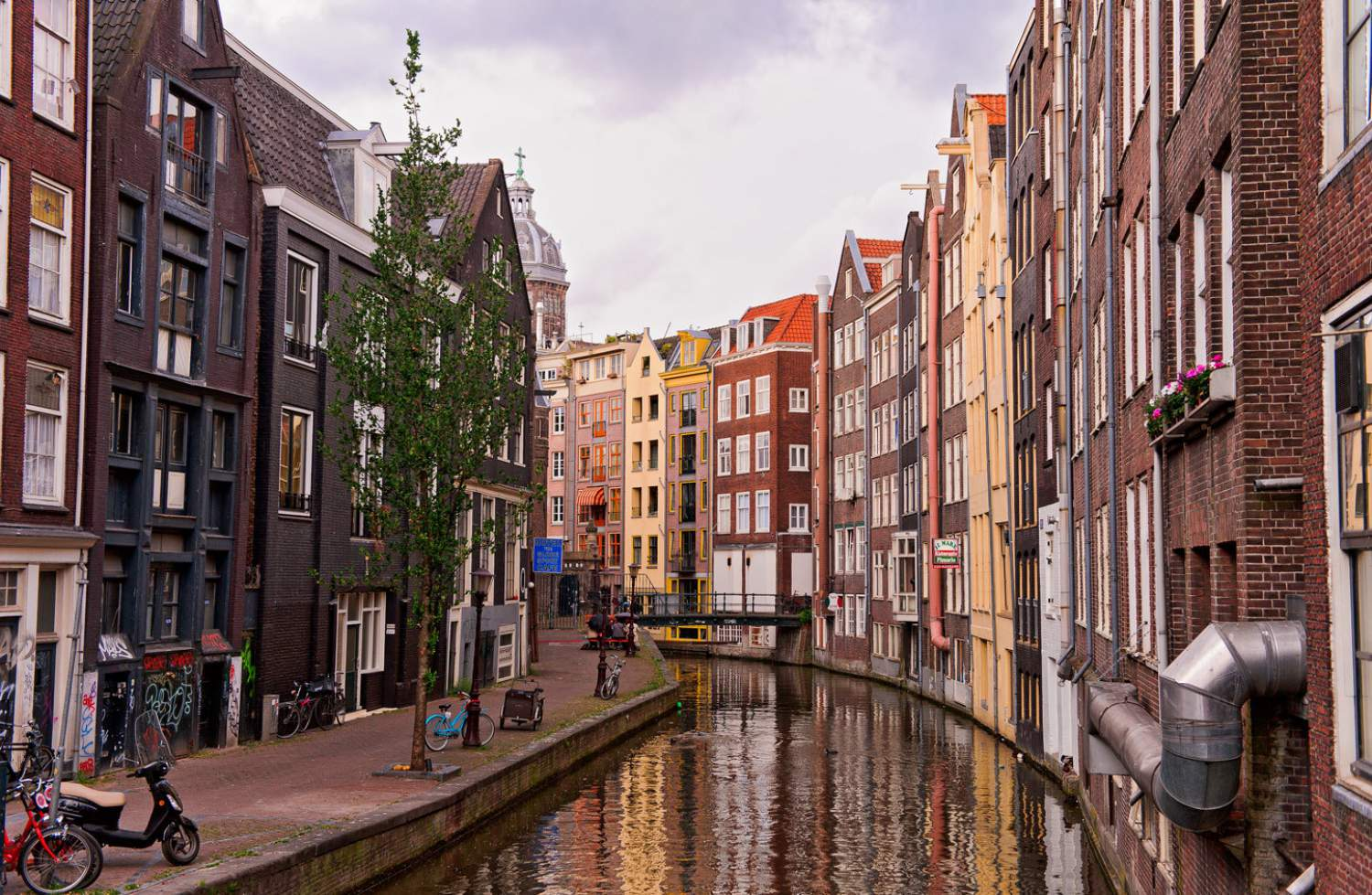Houses by the canal, Amsterdam