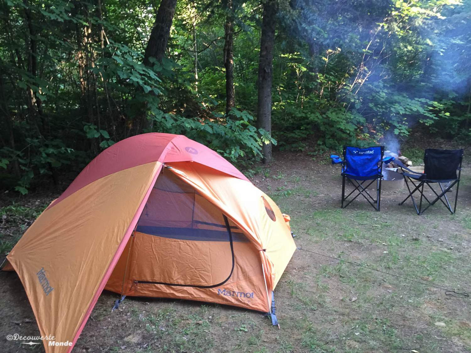 Camping at the Mont-Tremblant Park
