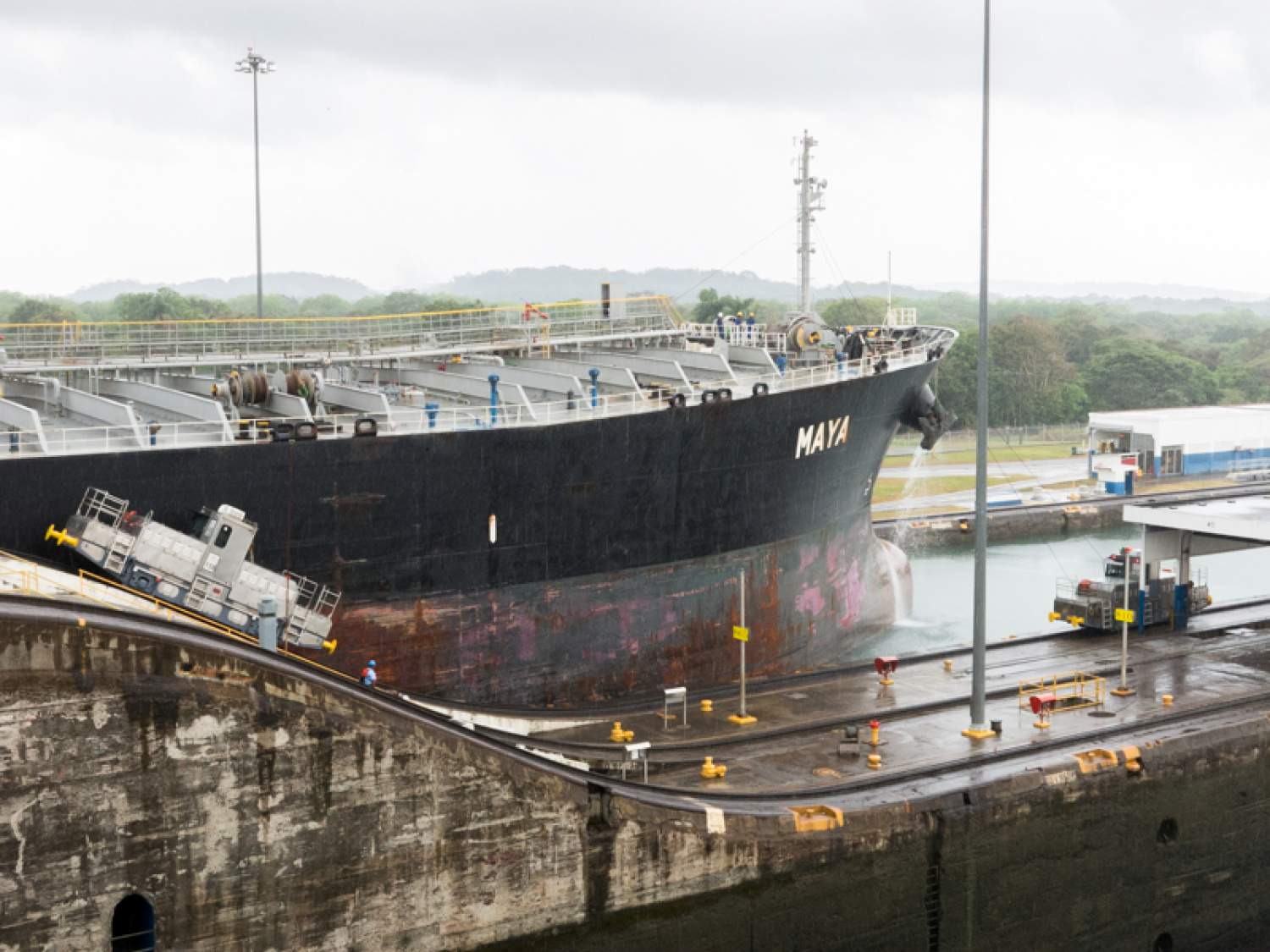 Maya Ship at the Panama Canal