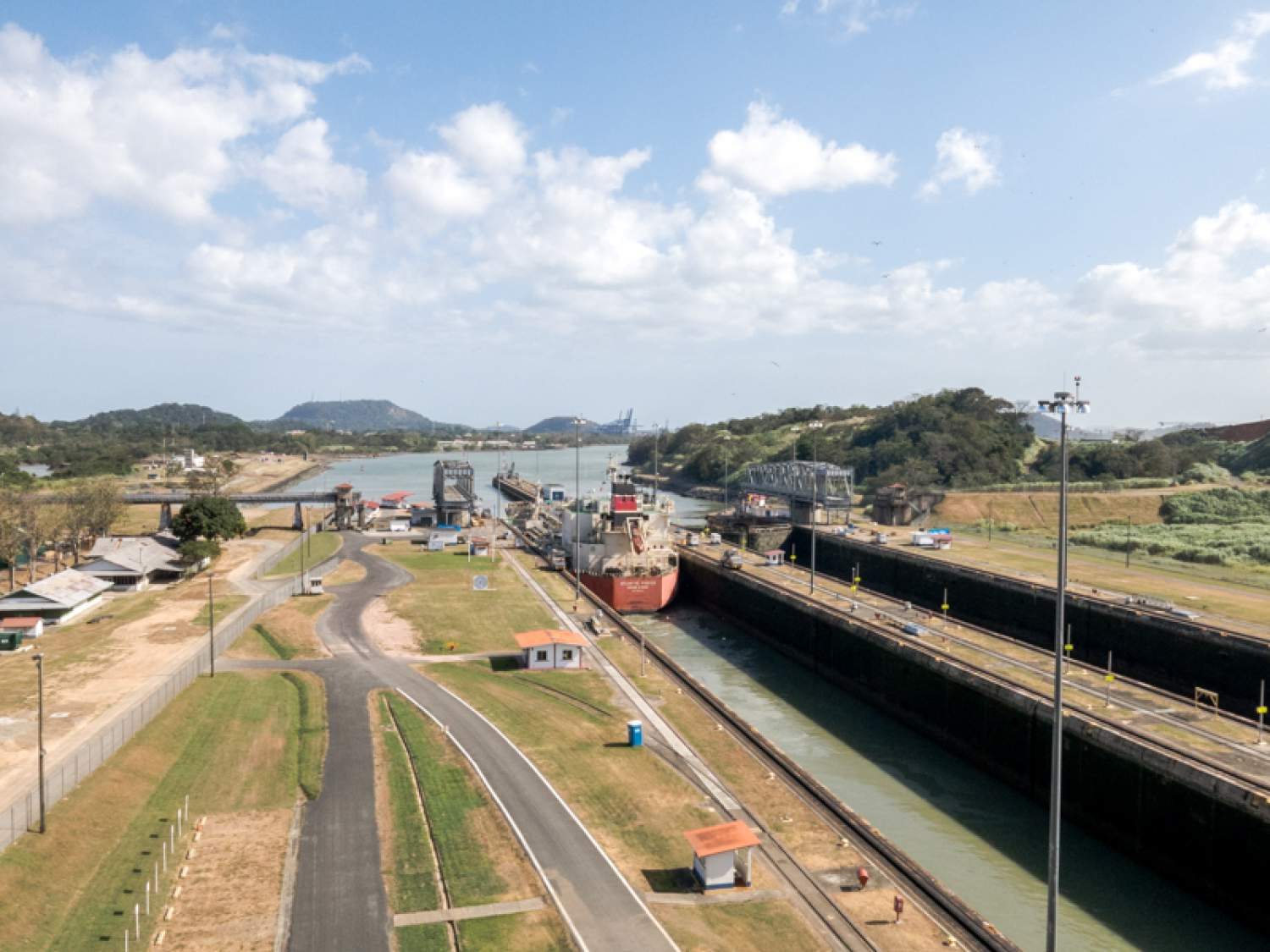 View of the Panama Canal