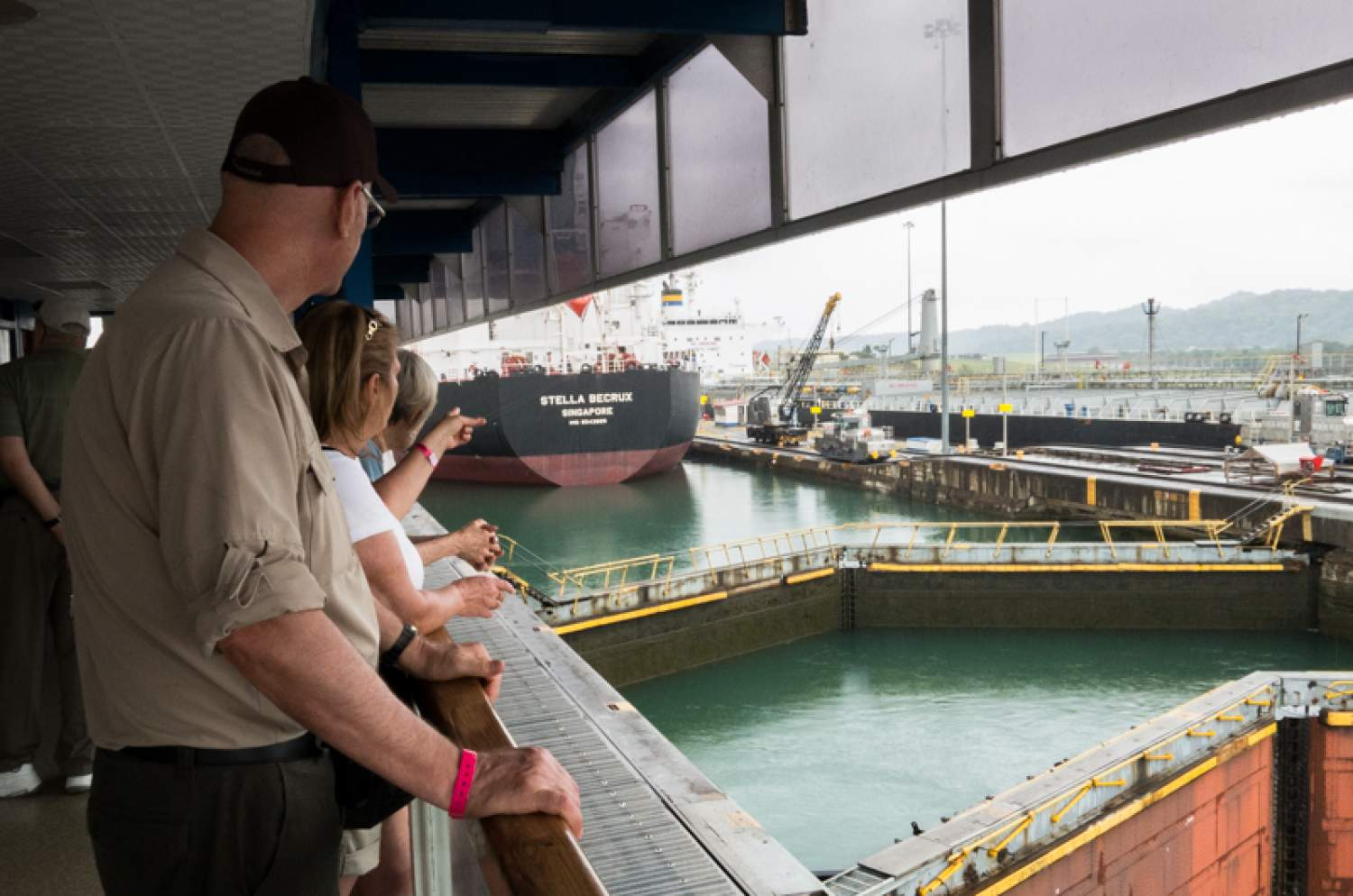 View from the Miraflores Visitor Centre, Panama Canal