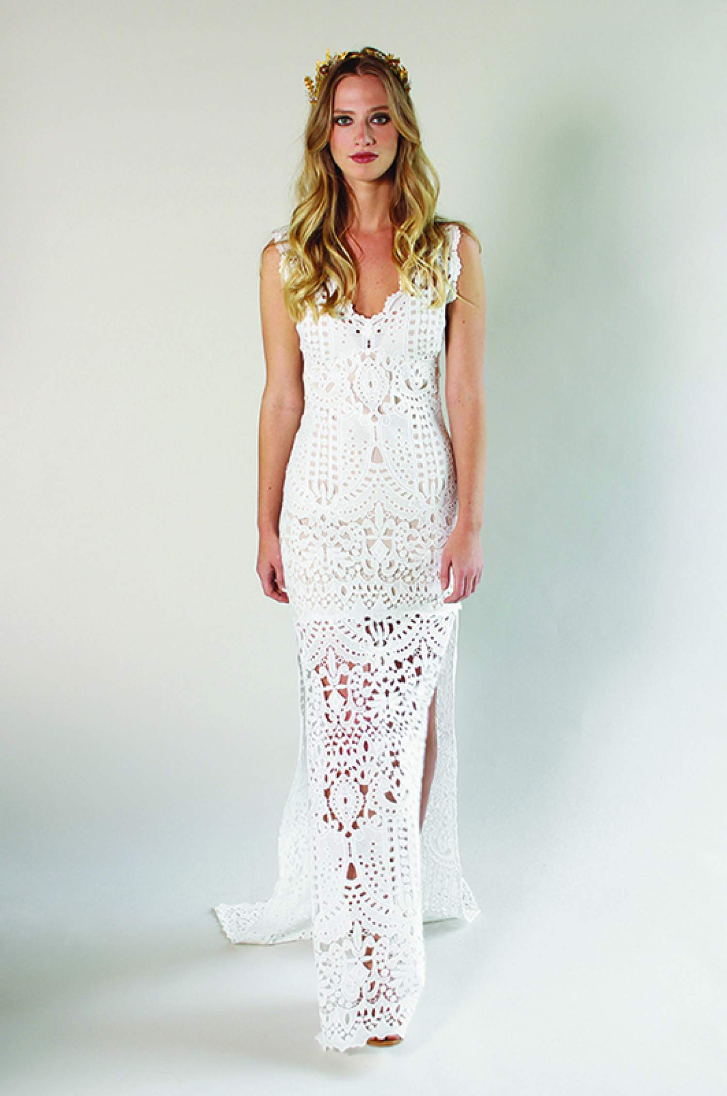 Claire Pettibone lace wedding dress