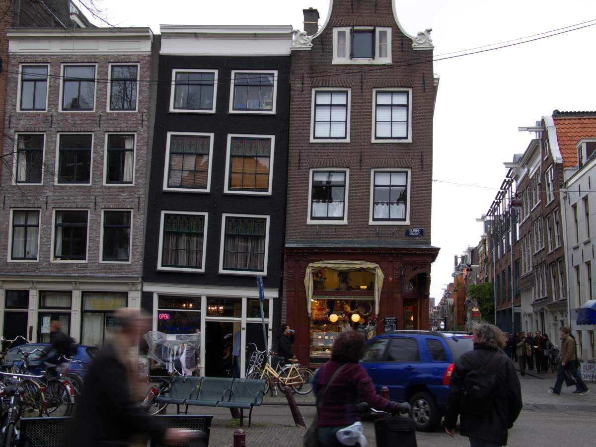 Crooked houses in Amsterdam, Netherlands