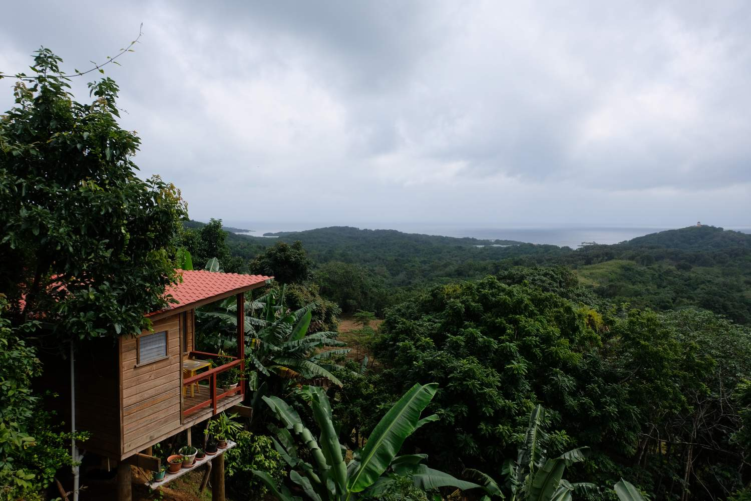 View from Cal's Cantina on the east-end of Roatan Island, Honduras