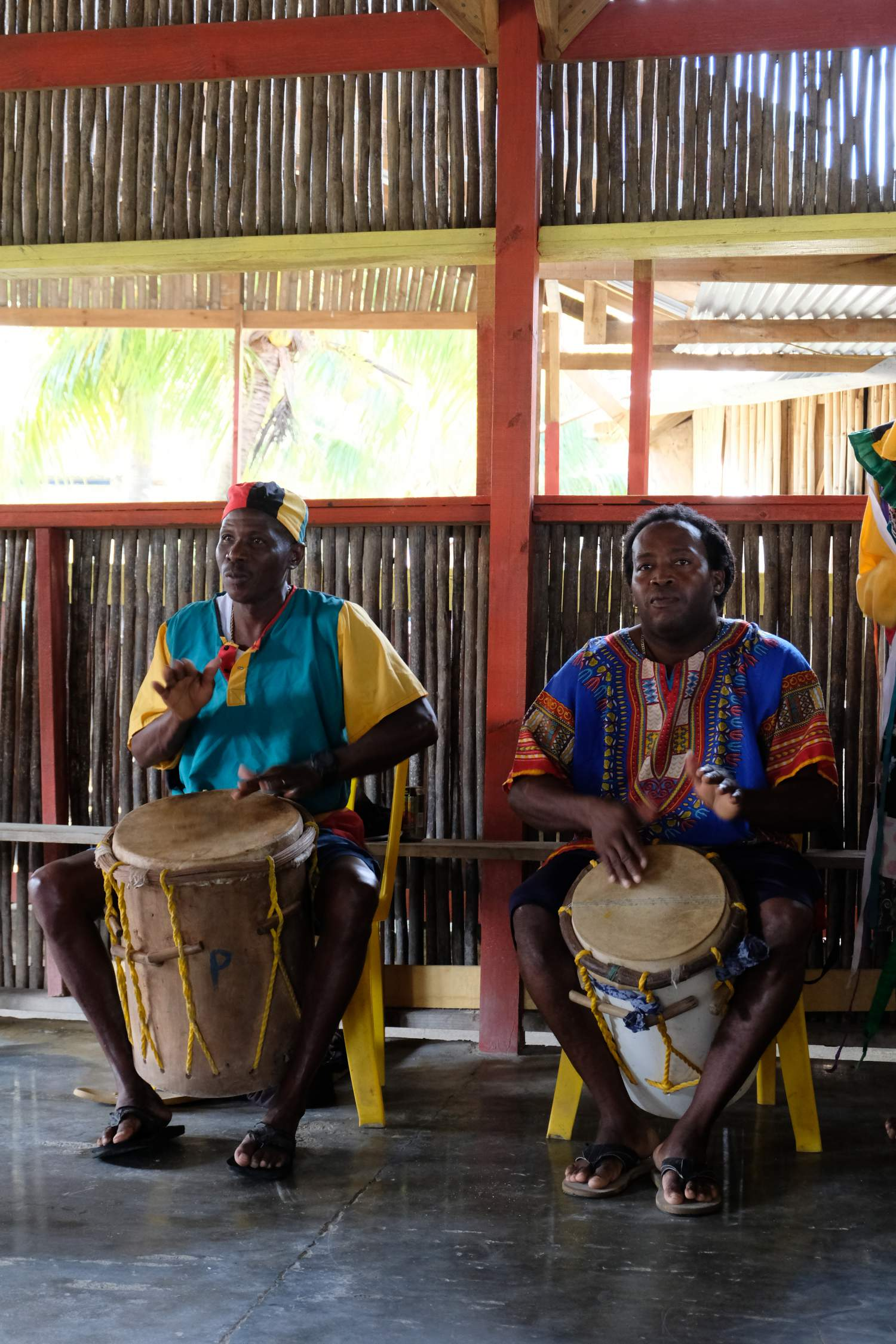 Traditional dance in Punta Gorda on the east-end of Roatan Island, Honduras