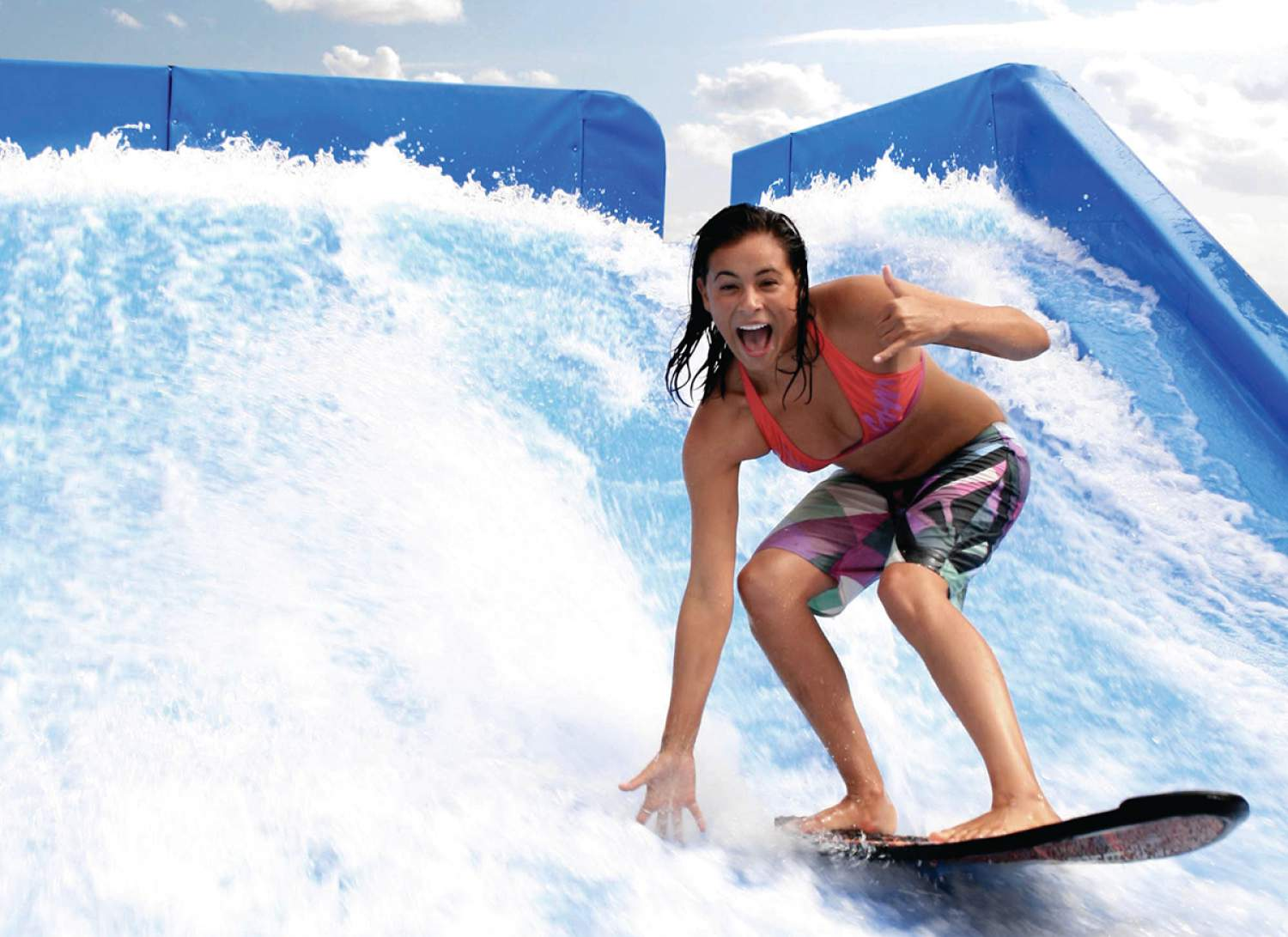 Flowrider surfing, Royal Caribbean