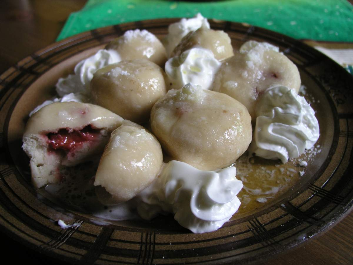 Fruit Turnovers (Svestkove Knedliky), traditional food in Czech Republic