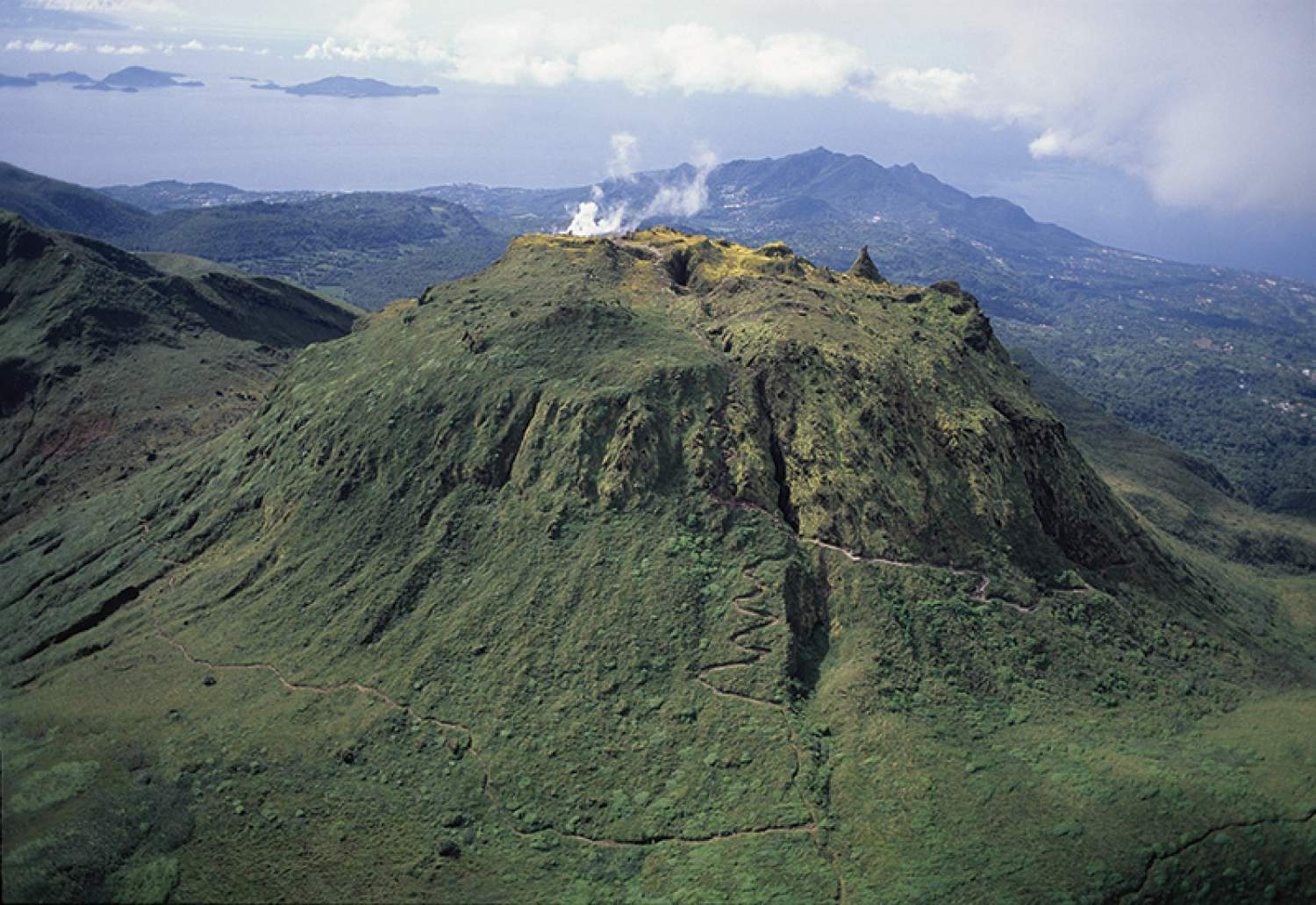 Volcano Soufriere, Guadeloupe