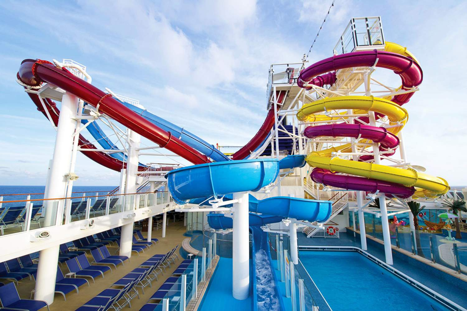 Water park on the Norwegian cruise