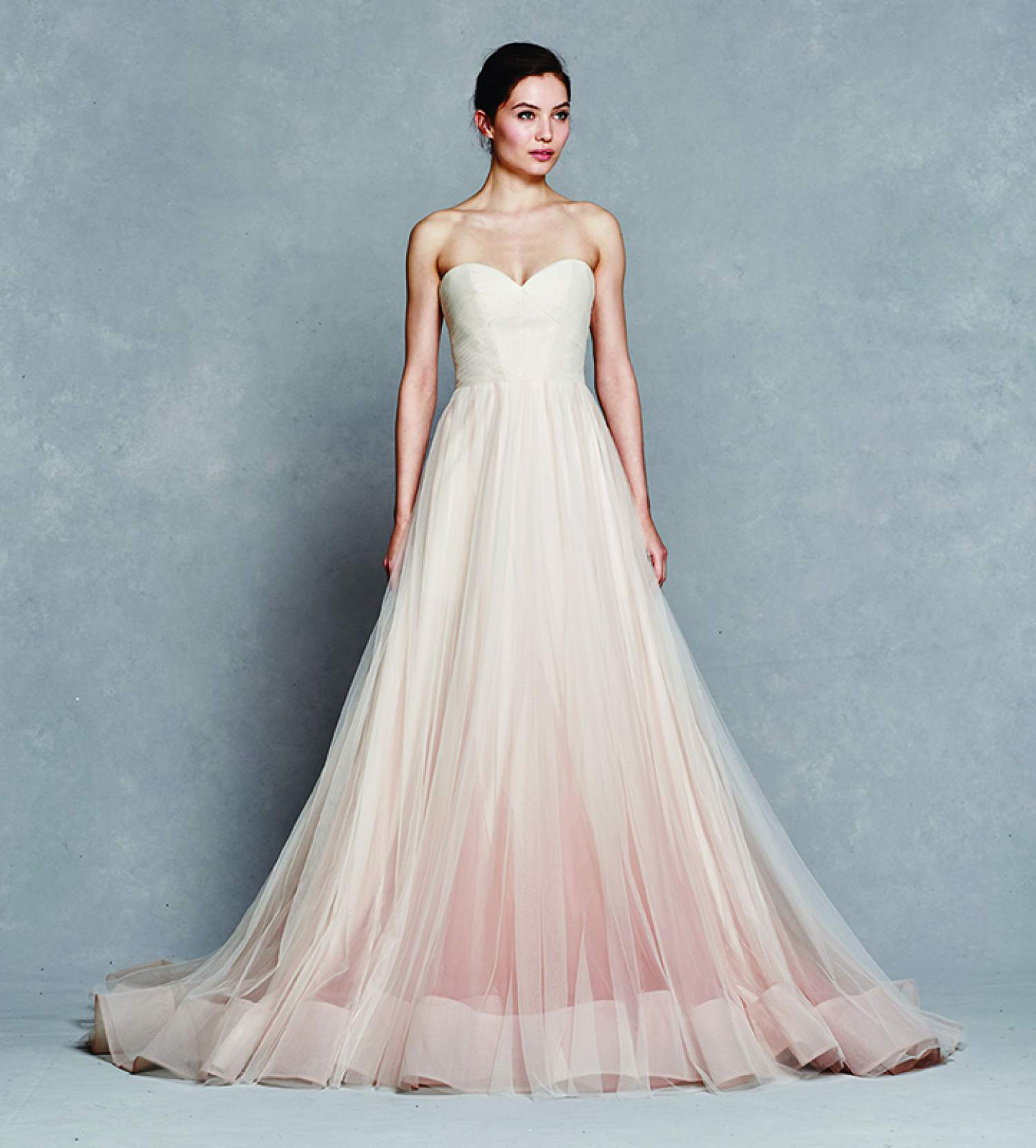 Kelly Faetanini pastel wedding dress