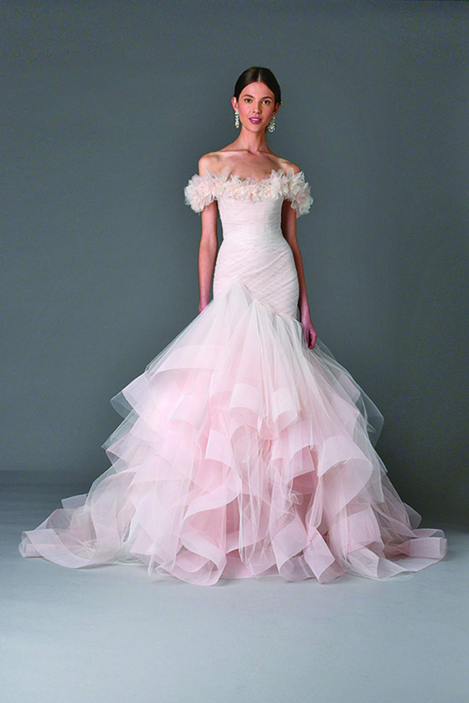 Marchesa pastel wedding dress