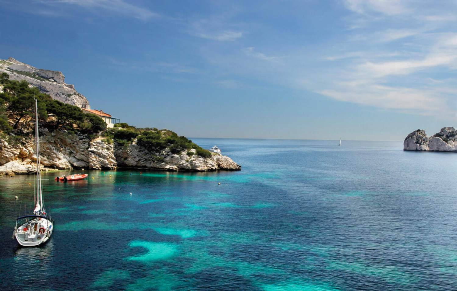 National park of Calanques in Provence, France