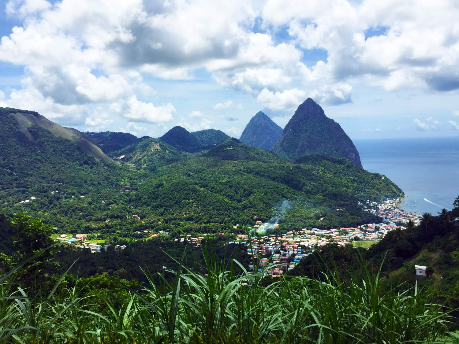 Panoramic view of the island of St-Lucia