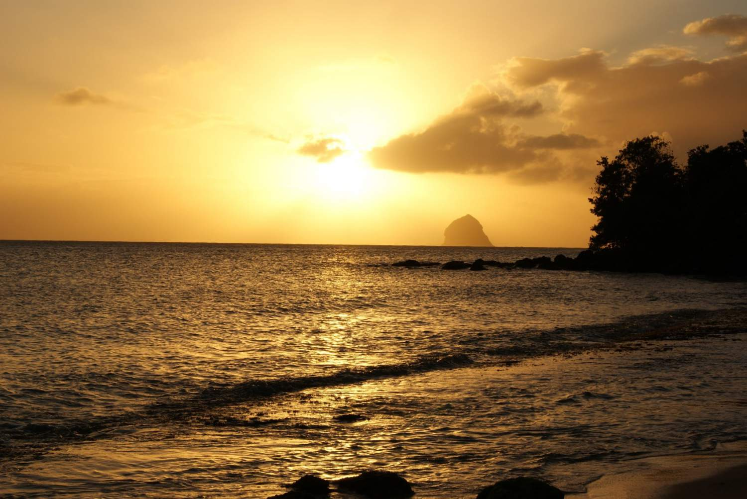 Sunset at the Diamond Rock, Martinique