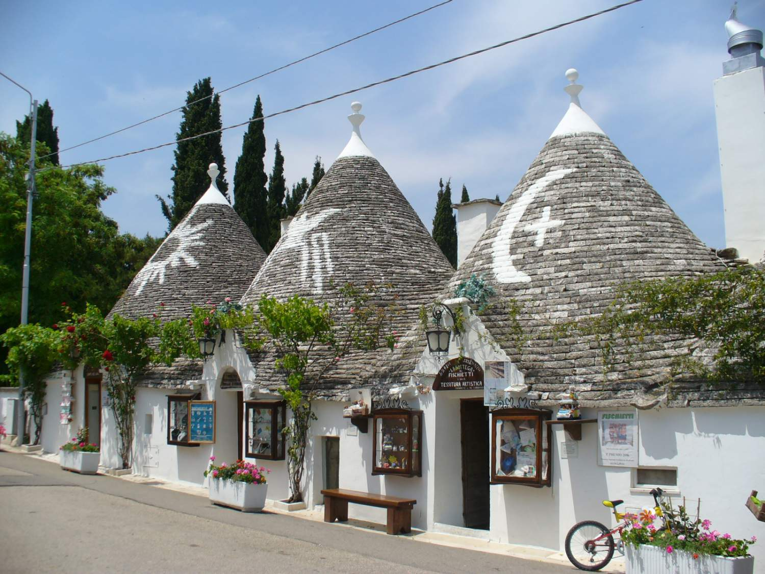 Trulli architecture in the region of Puglia, Italy