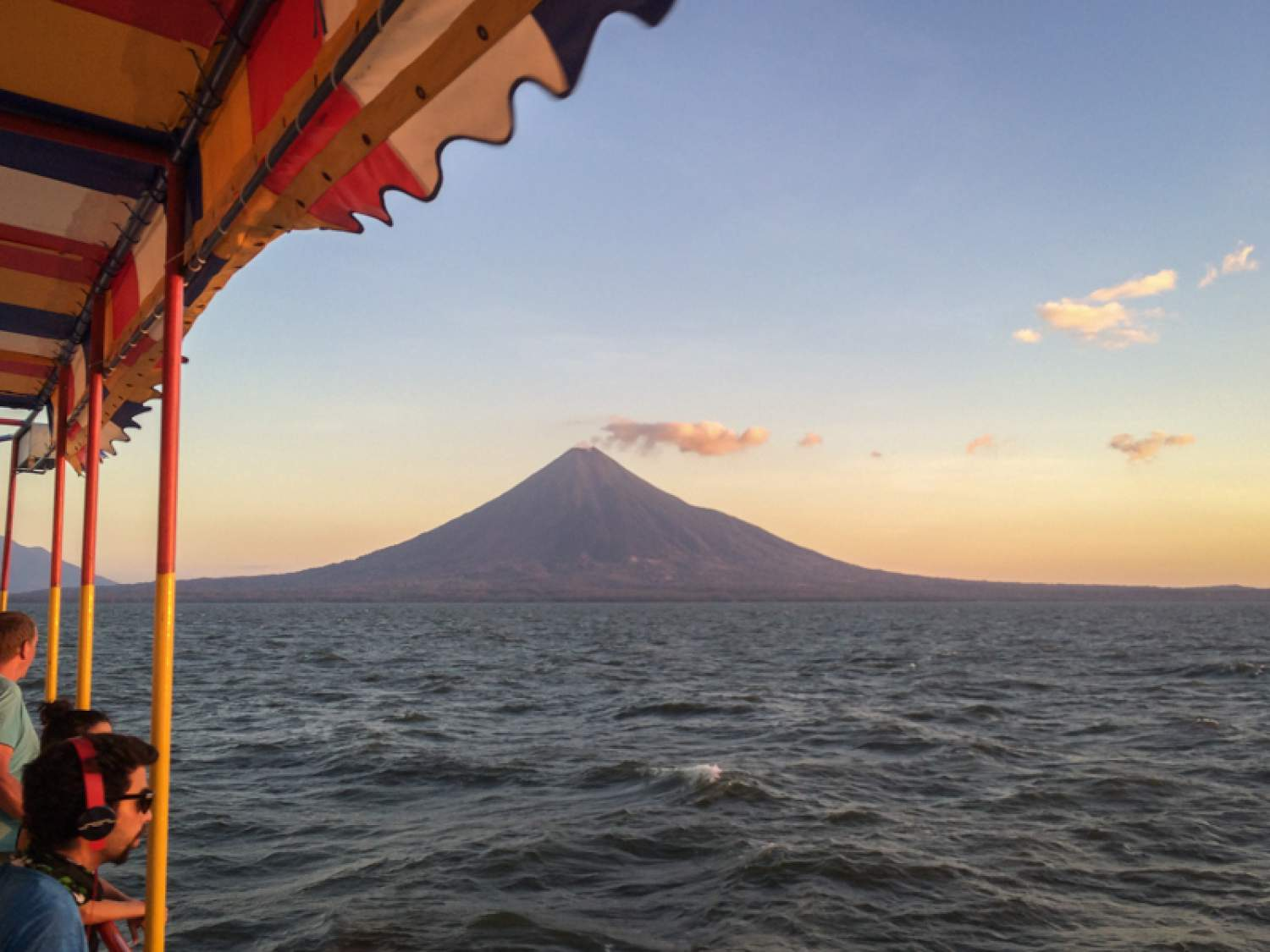 View from a boat of the Concepción volcano in Ometepe, Nicaragua