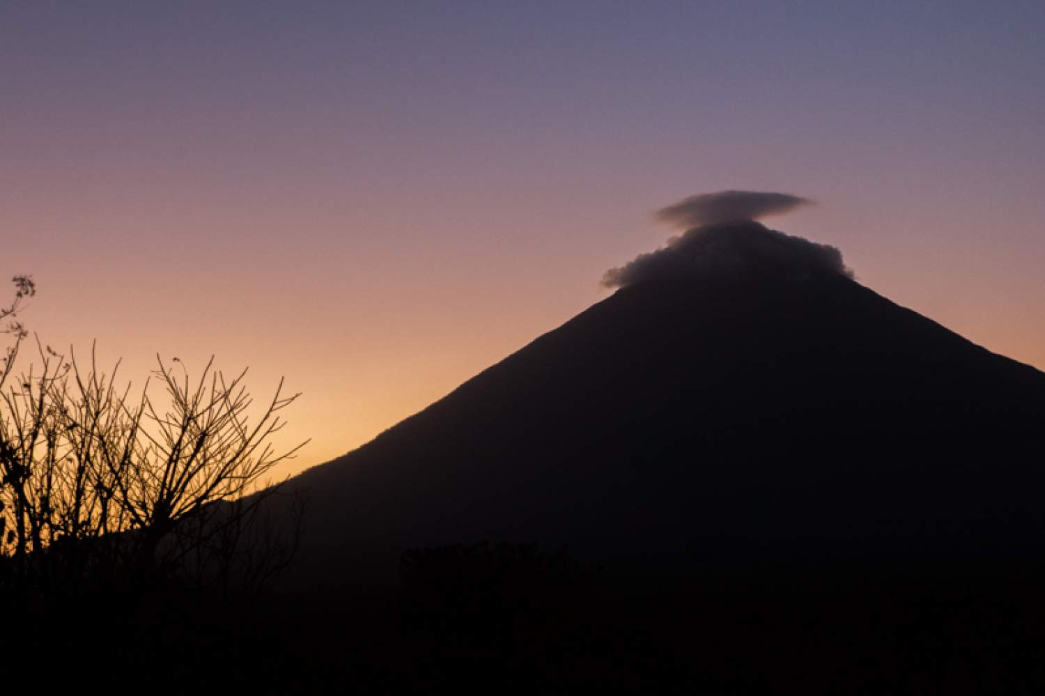 The Concepción volcano on Ometepe Island, Nicaragua
