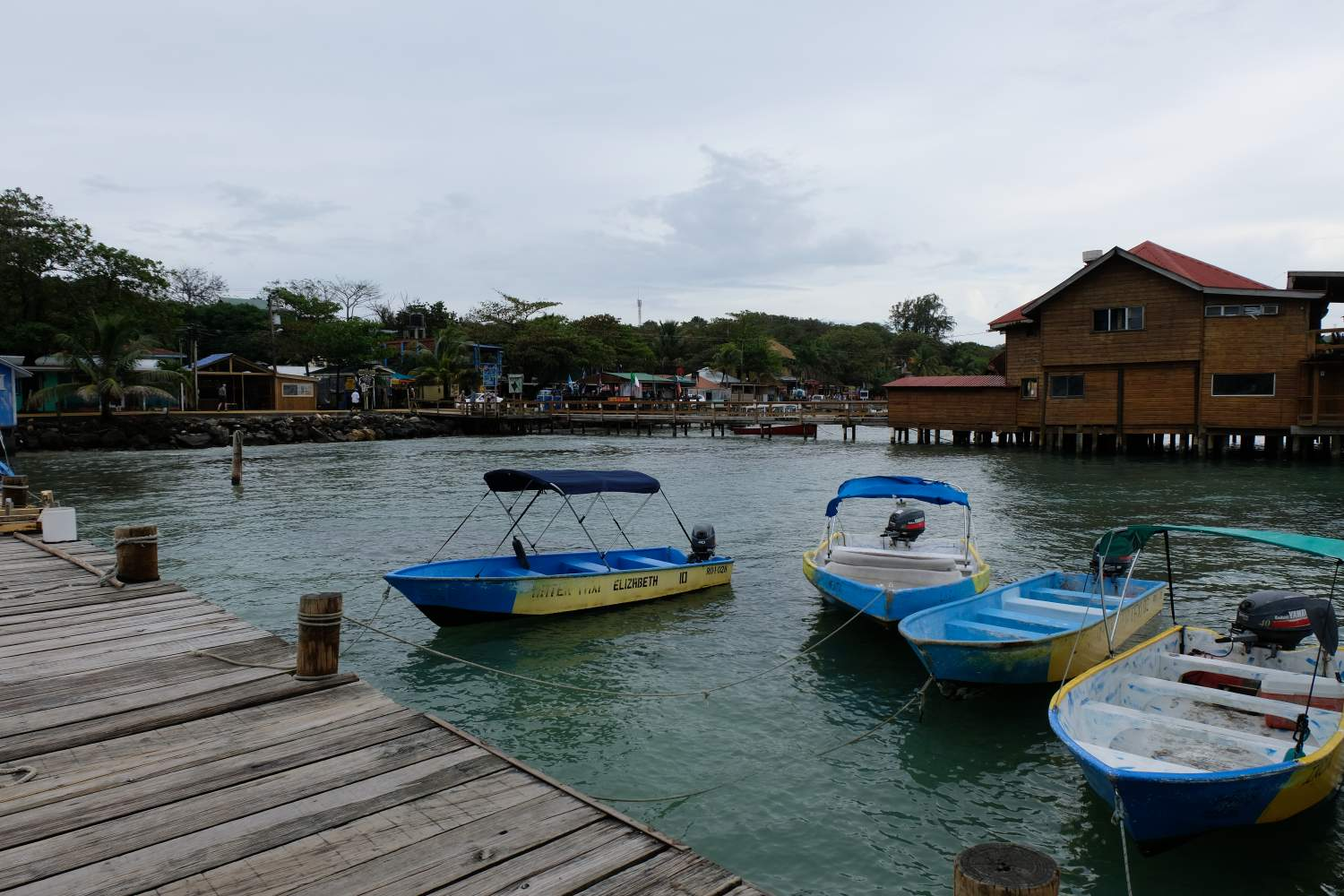 West-end village on Roatan Island, Honduras
