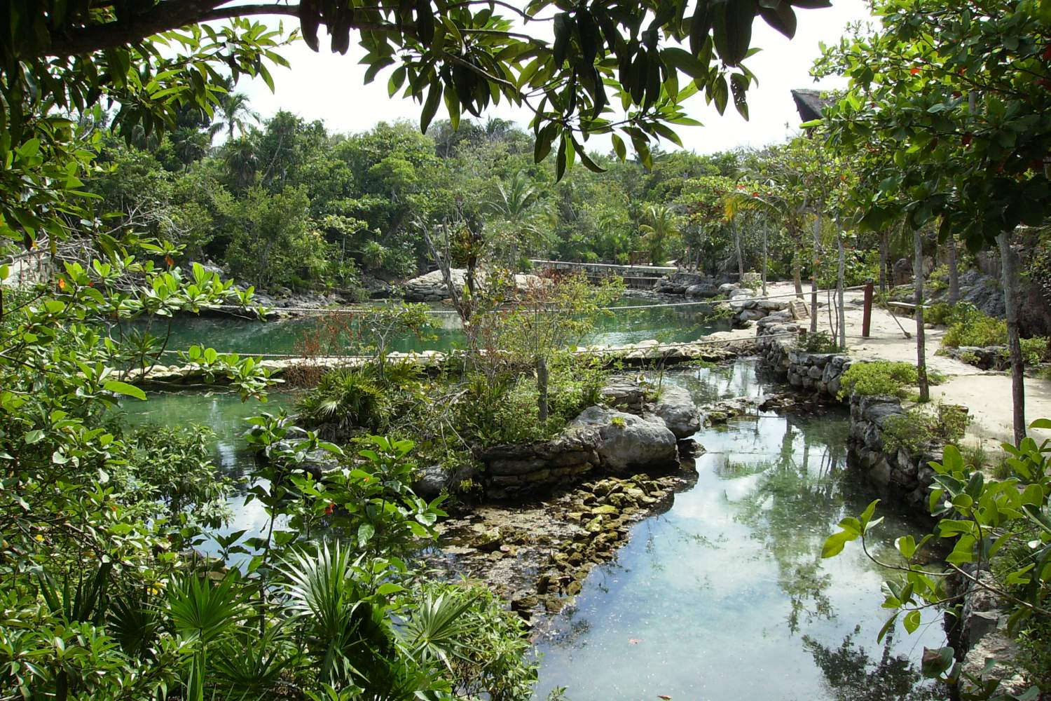 Pond in the Xcaret park