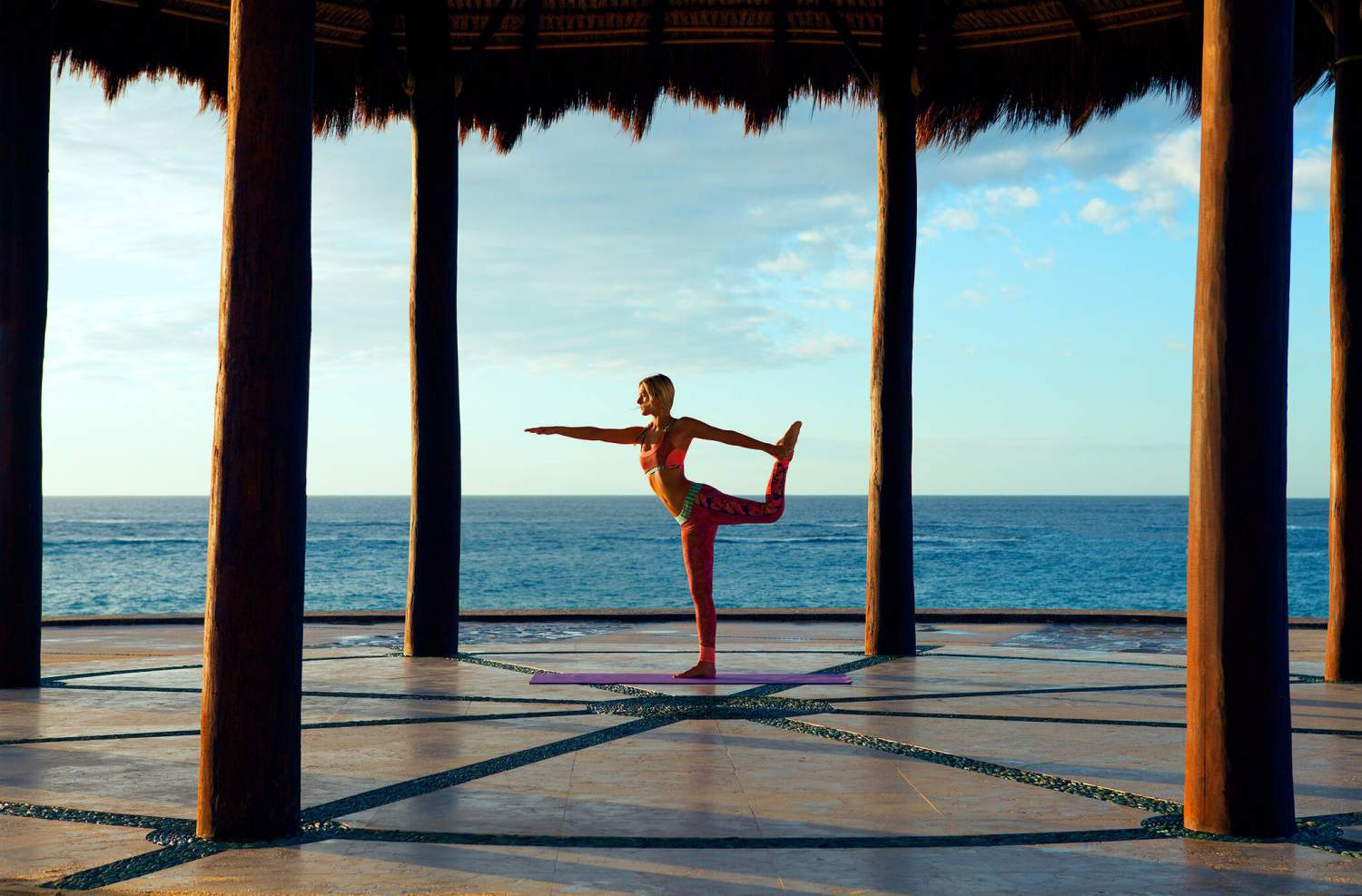 Yoga Pose At Pedregal Retreat Tulum