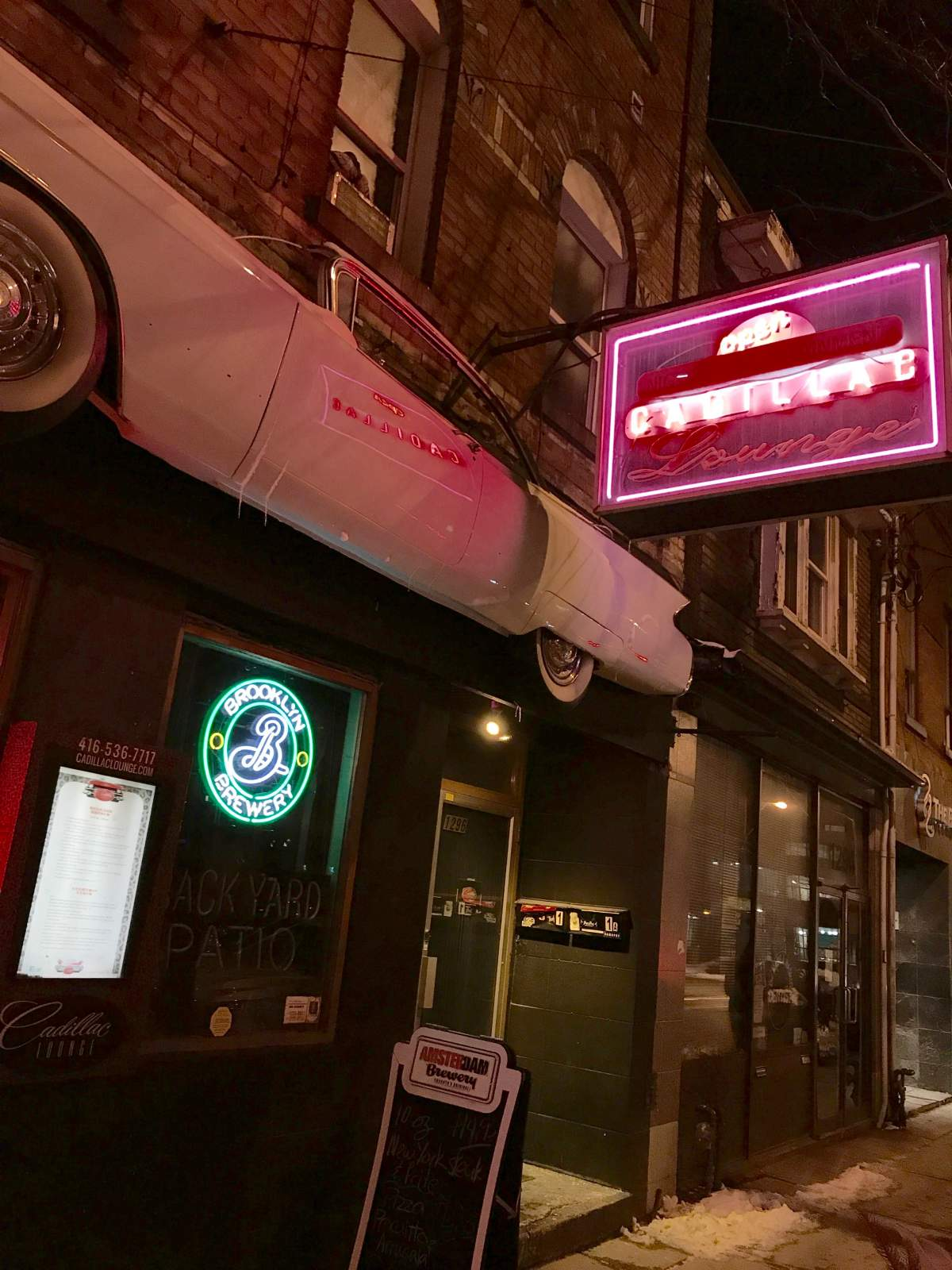 The Cadillac from outside - Toronto musical venues