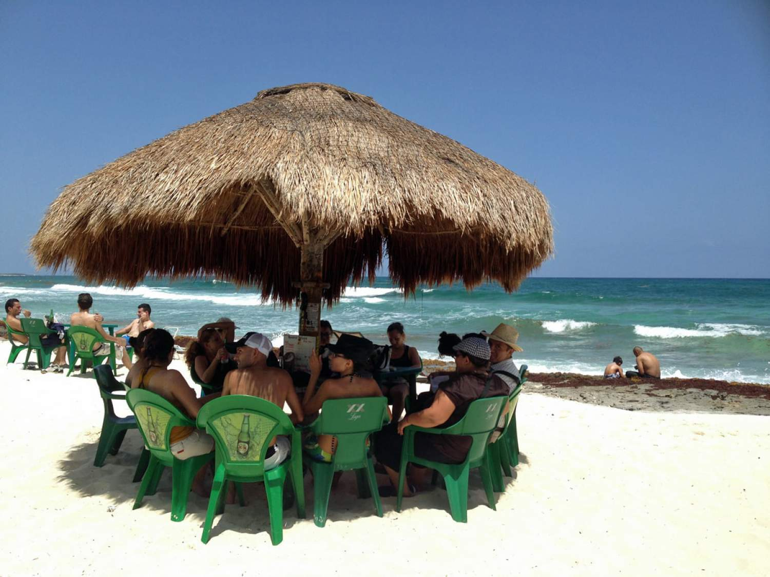 The beach is the terrasse at Rastas