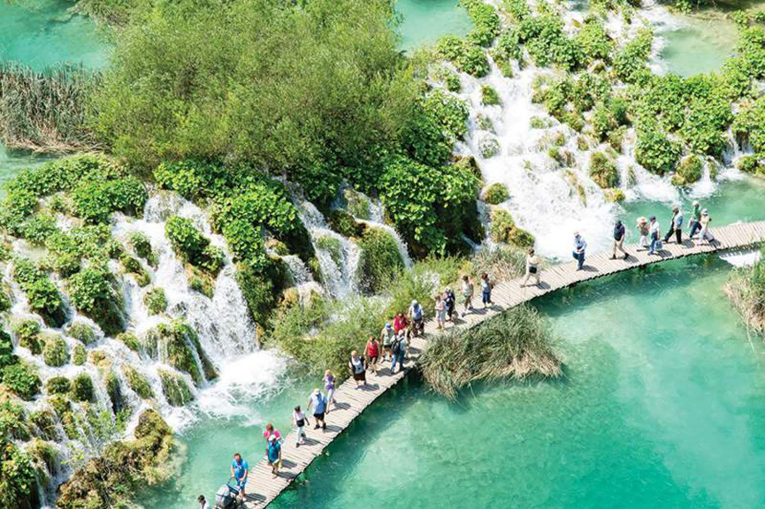 Walk in the national park of Plitvice, Croatia