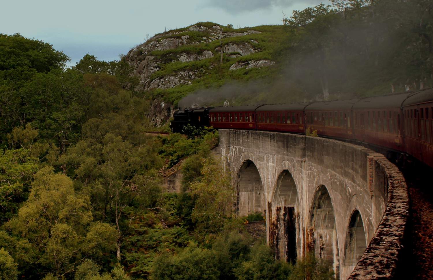 The Jacobit Train from the Harry Potter movies in Scotland