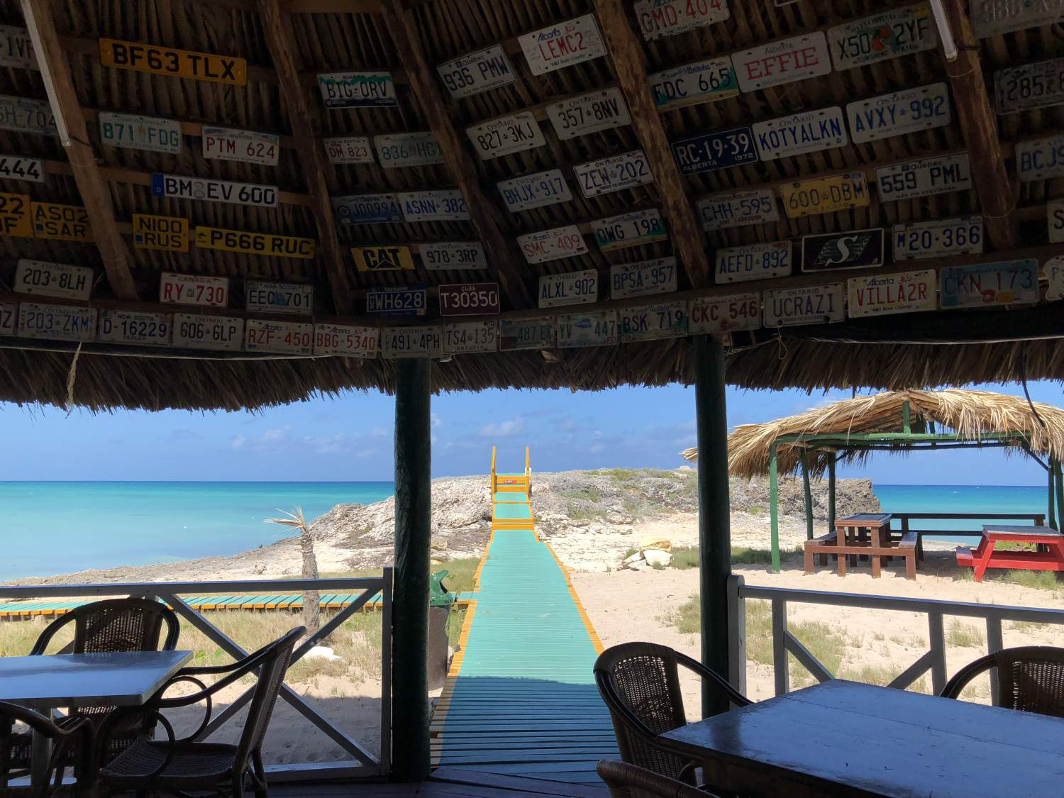 Terrasse de Lenny's Bar and Grill, Cayo Coco