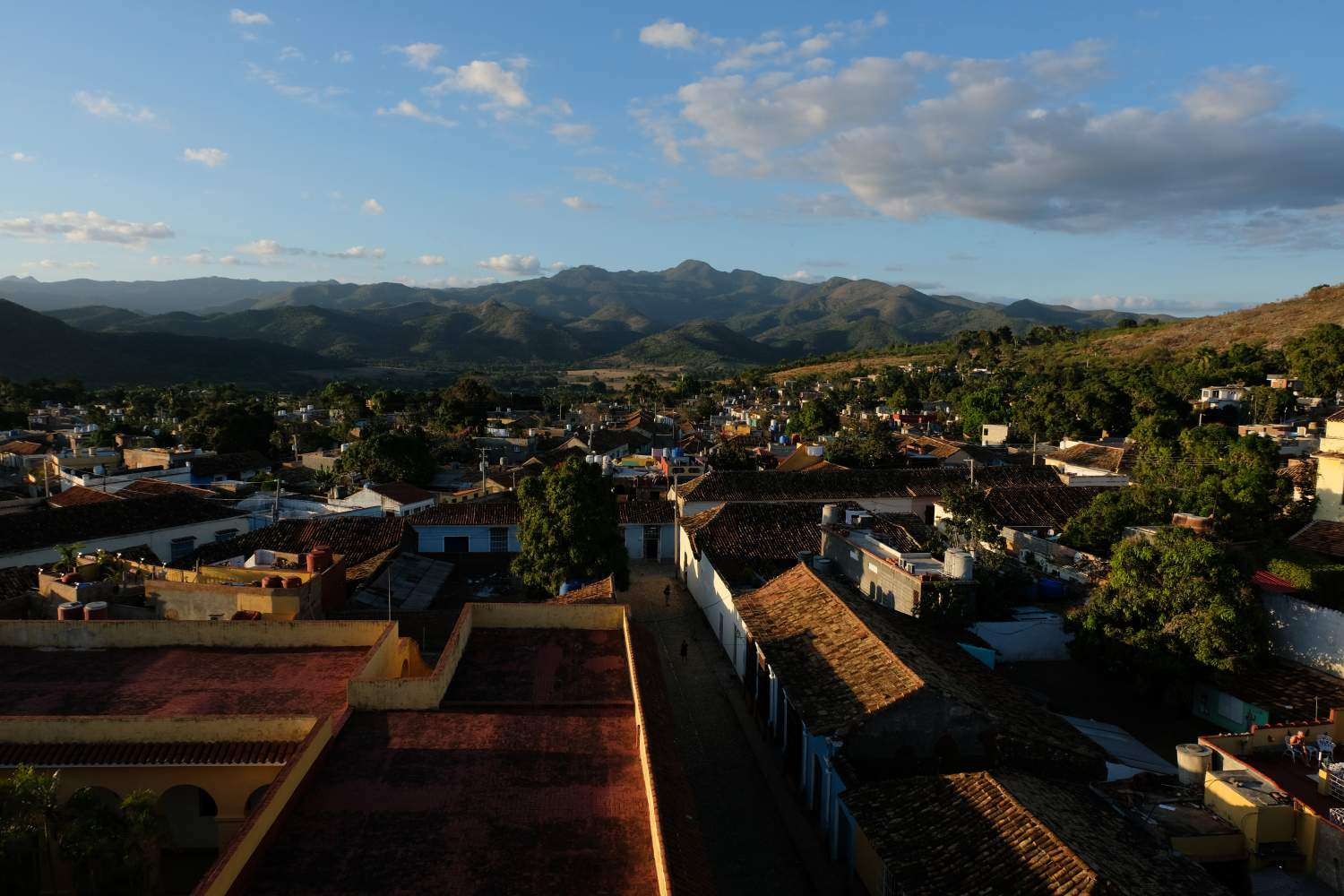 Panorama from the clock tower in Trinidad, Cuba