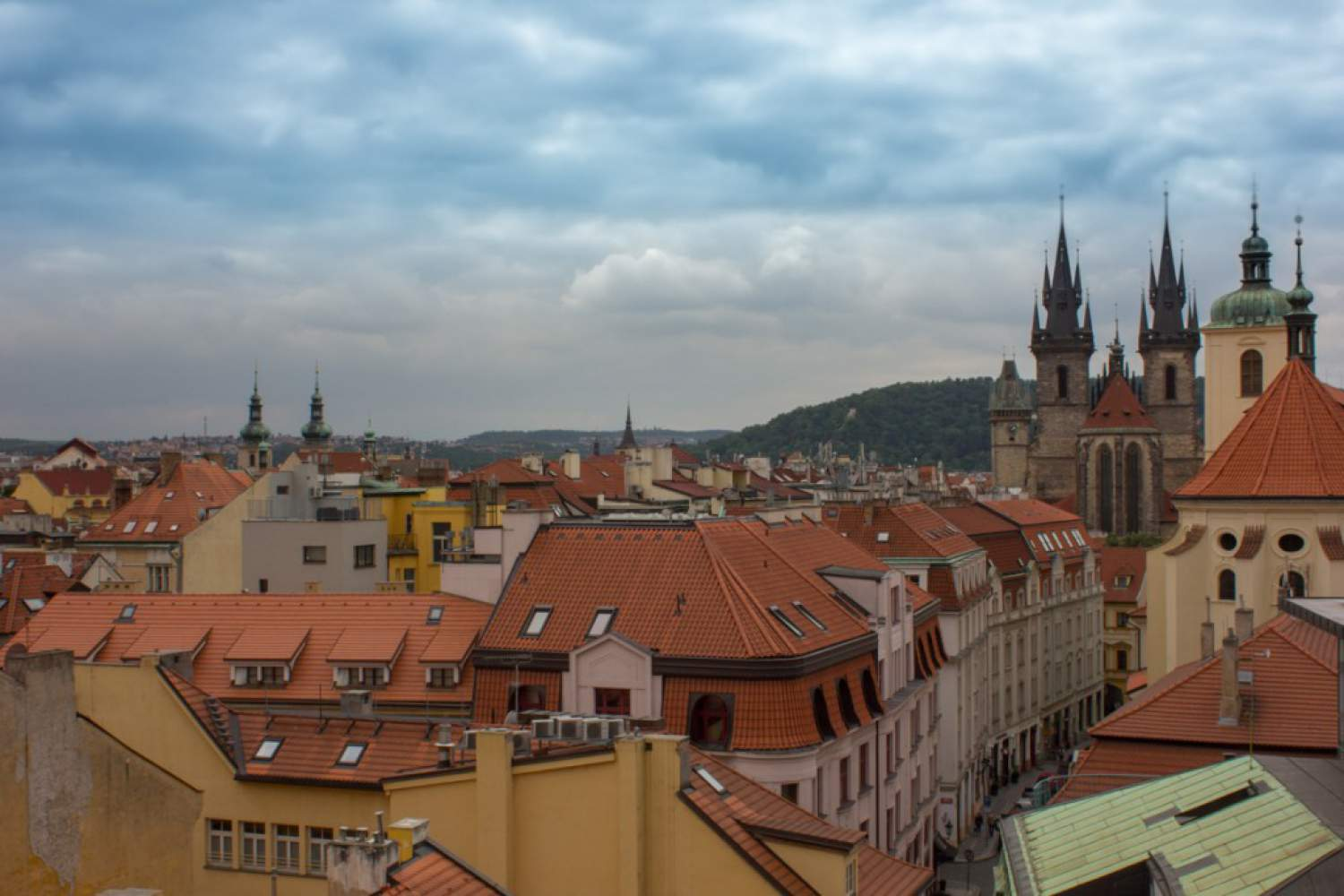 View from the Kotva department store in Prague